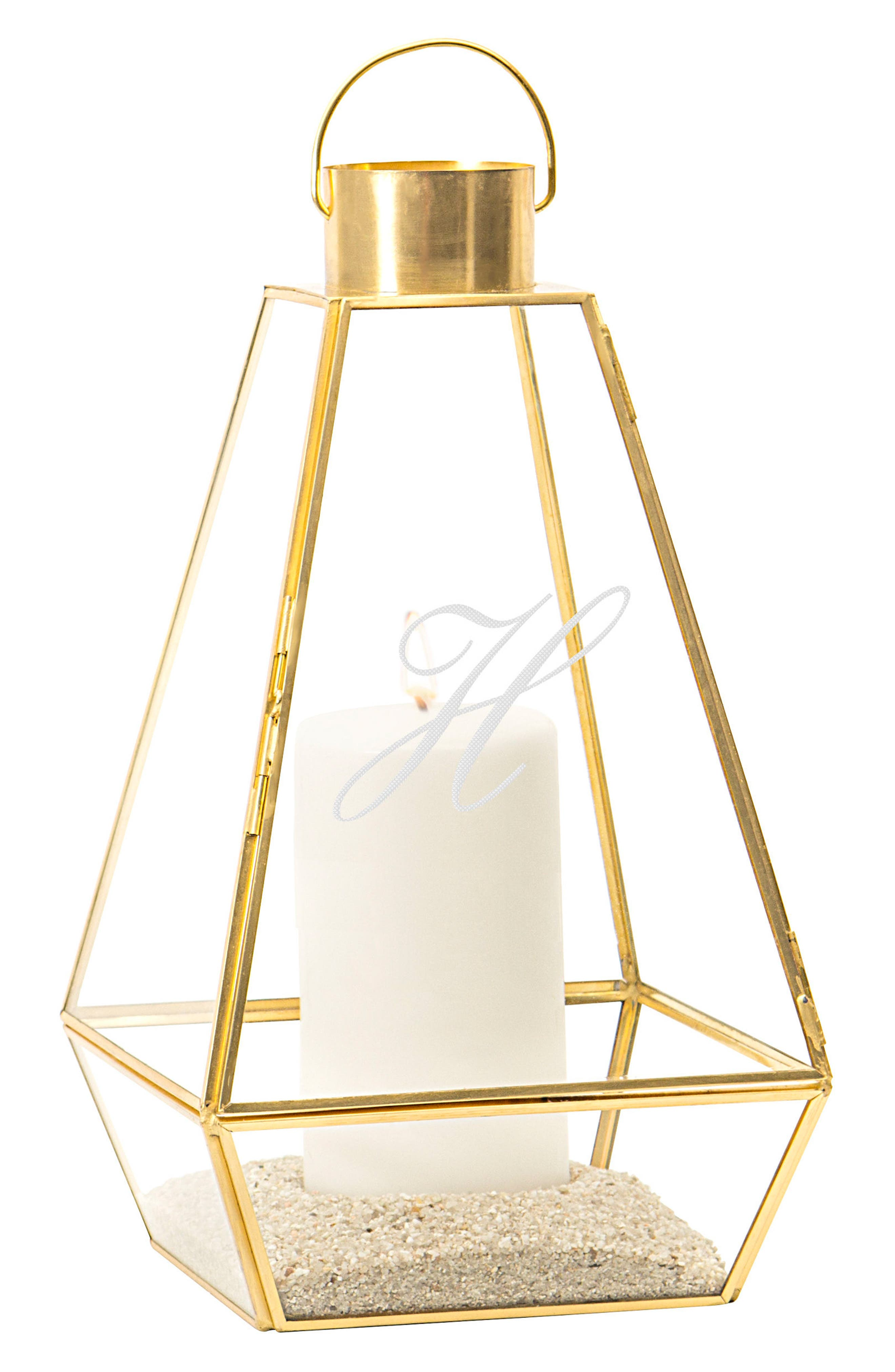 Monogram Unity Lantern,                         Main,                         color, Gold-H