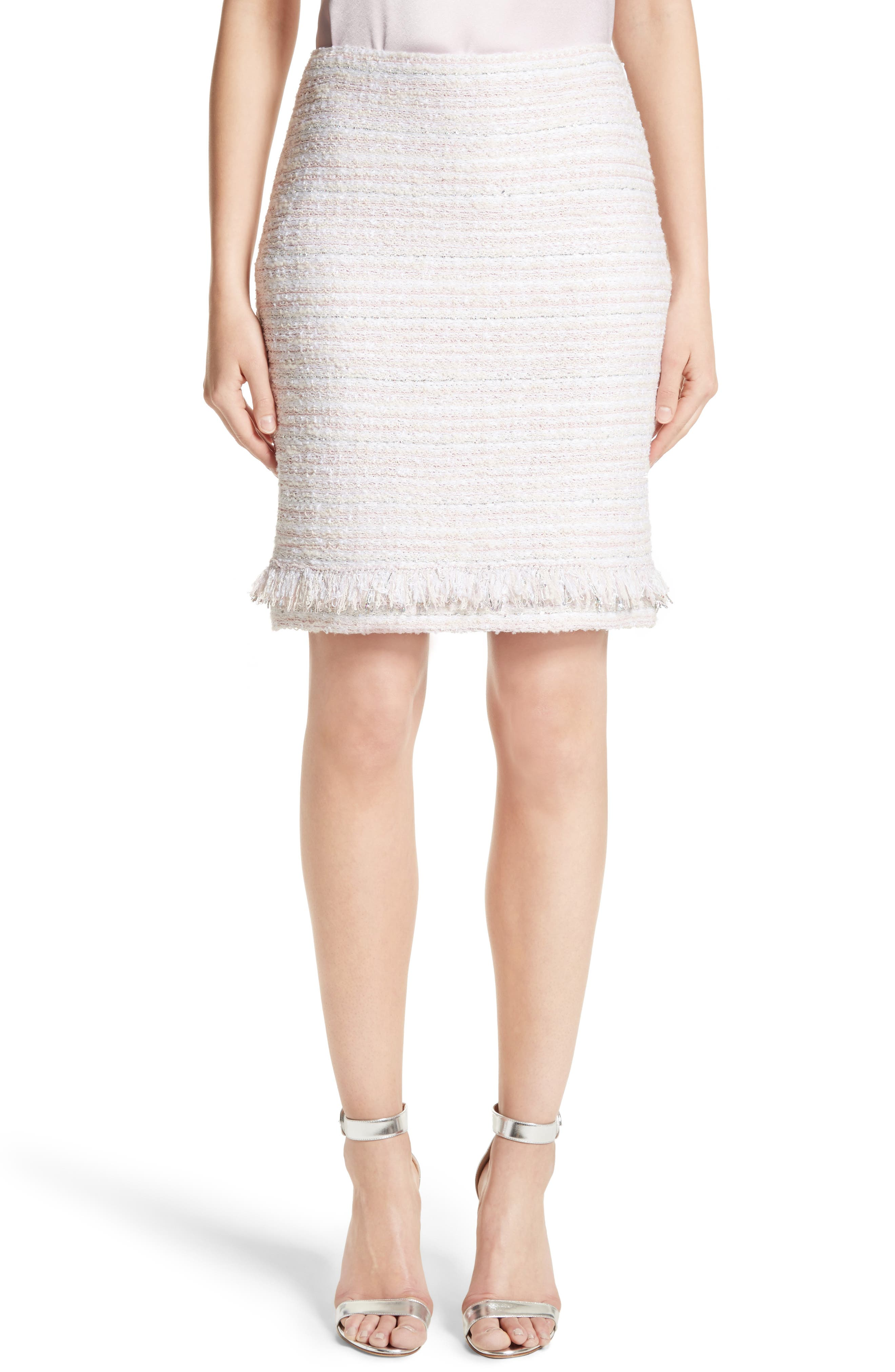 St. John Collection Padmesh Tweed Knit Skirt