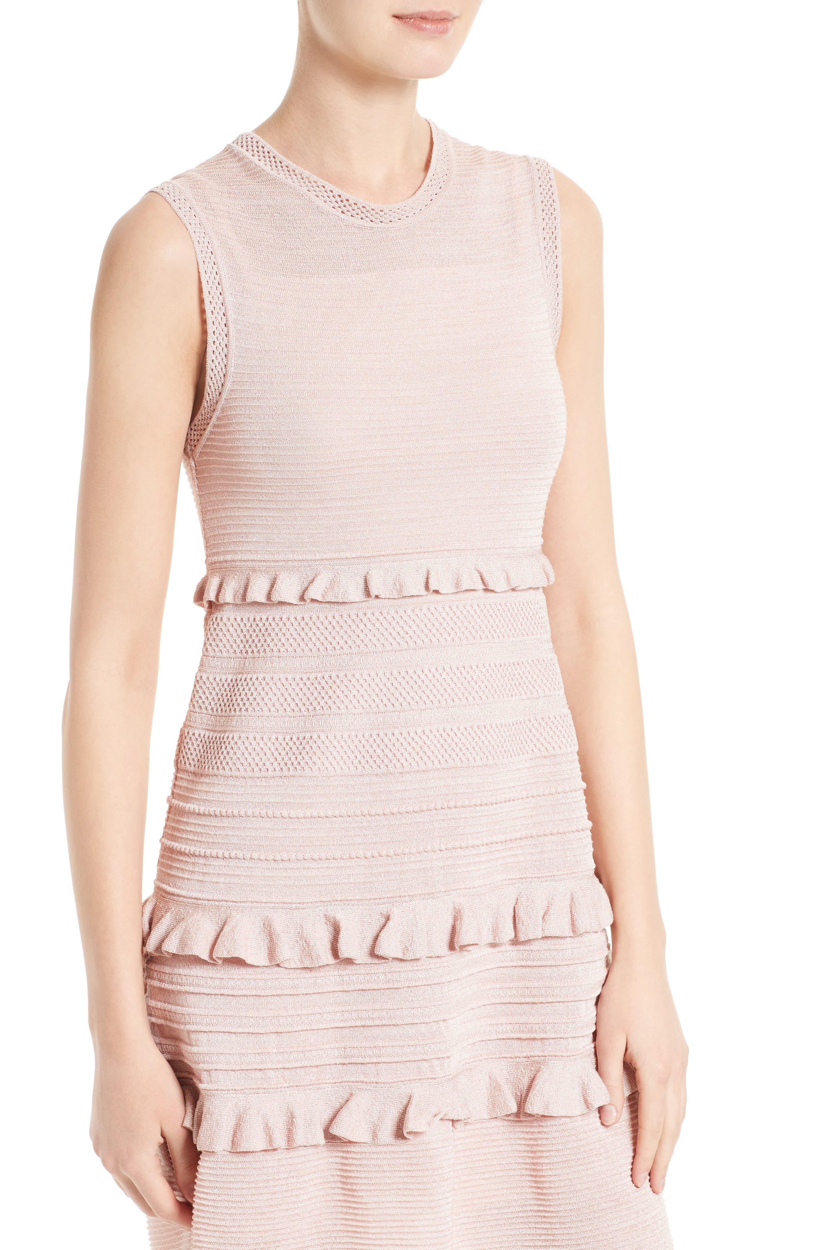 Alternate Image 4  - M Missoni Ruffle Metallic Mouline Knit Dress