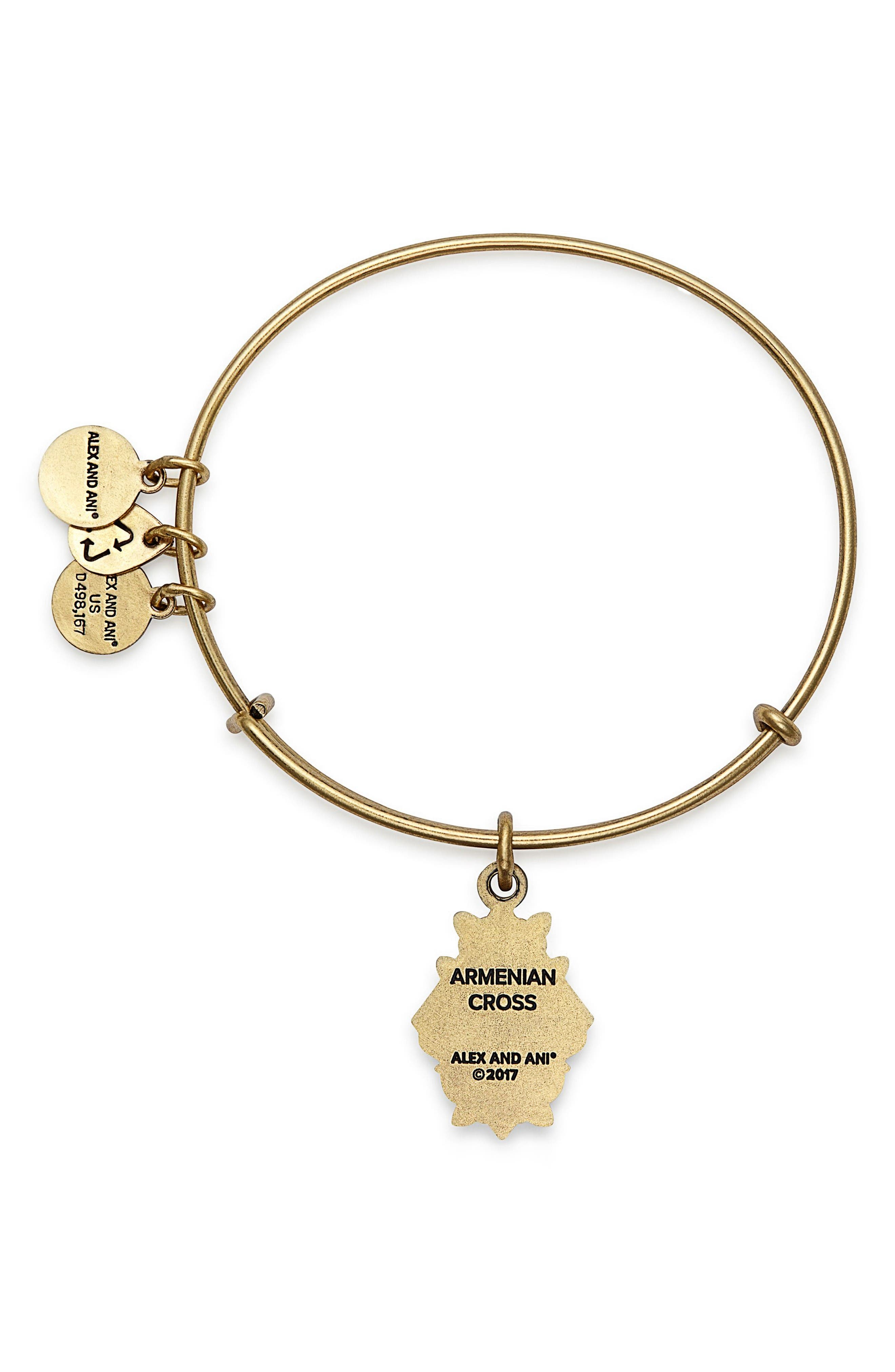 Alternate Image 2  - Alex and Ani Armenian Cross Adjustable Wire Bangle