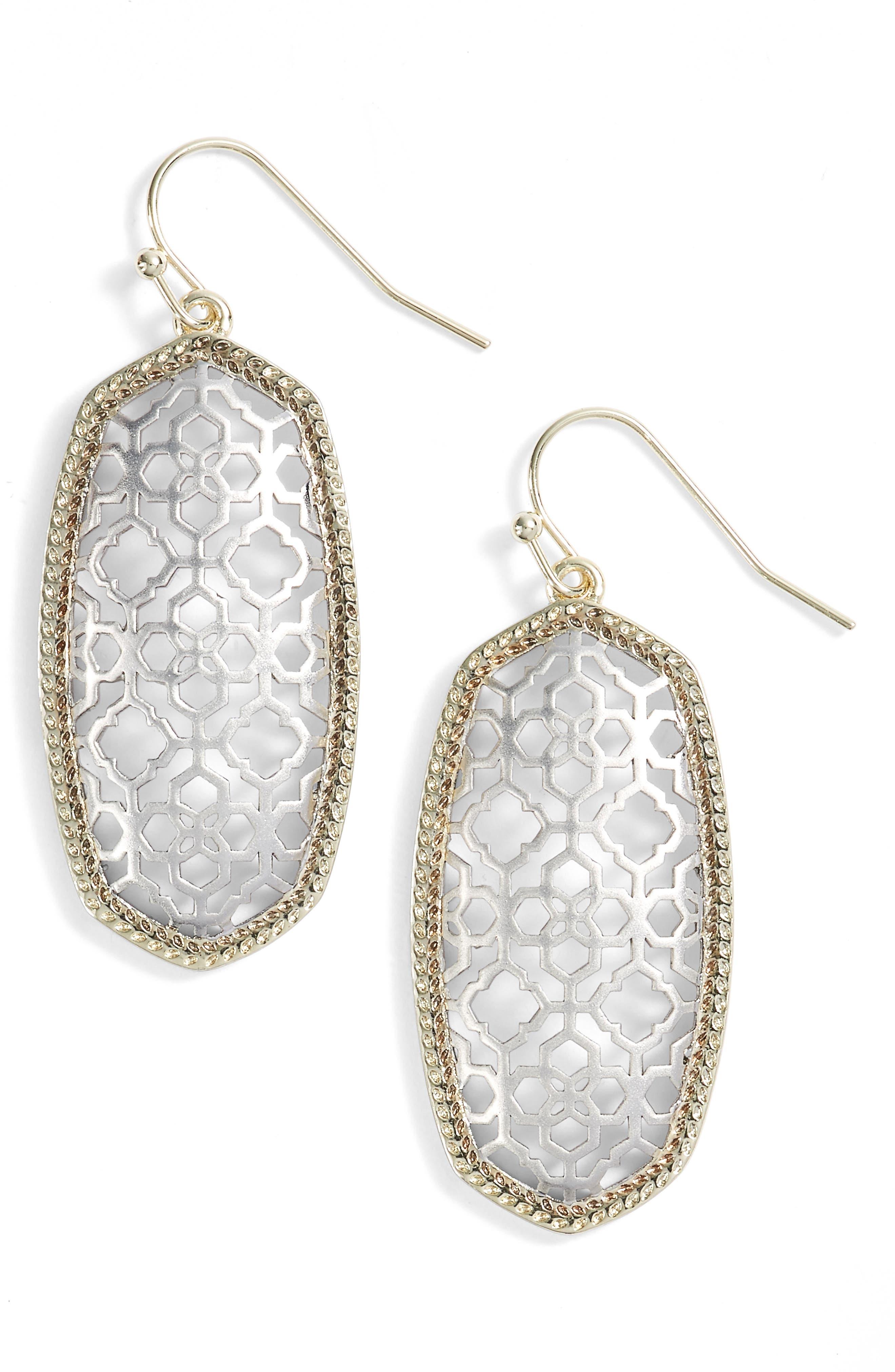 KENDRA SCOTT Elle Openwork Drop Earrings