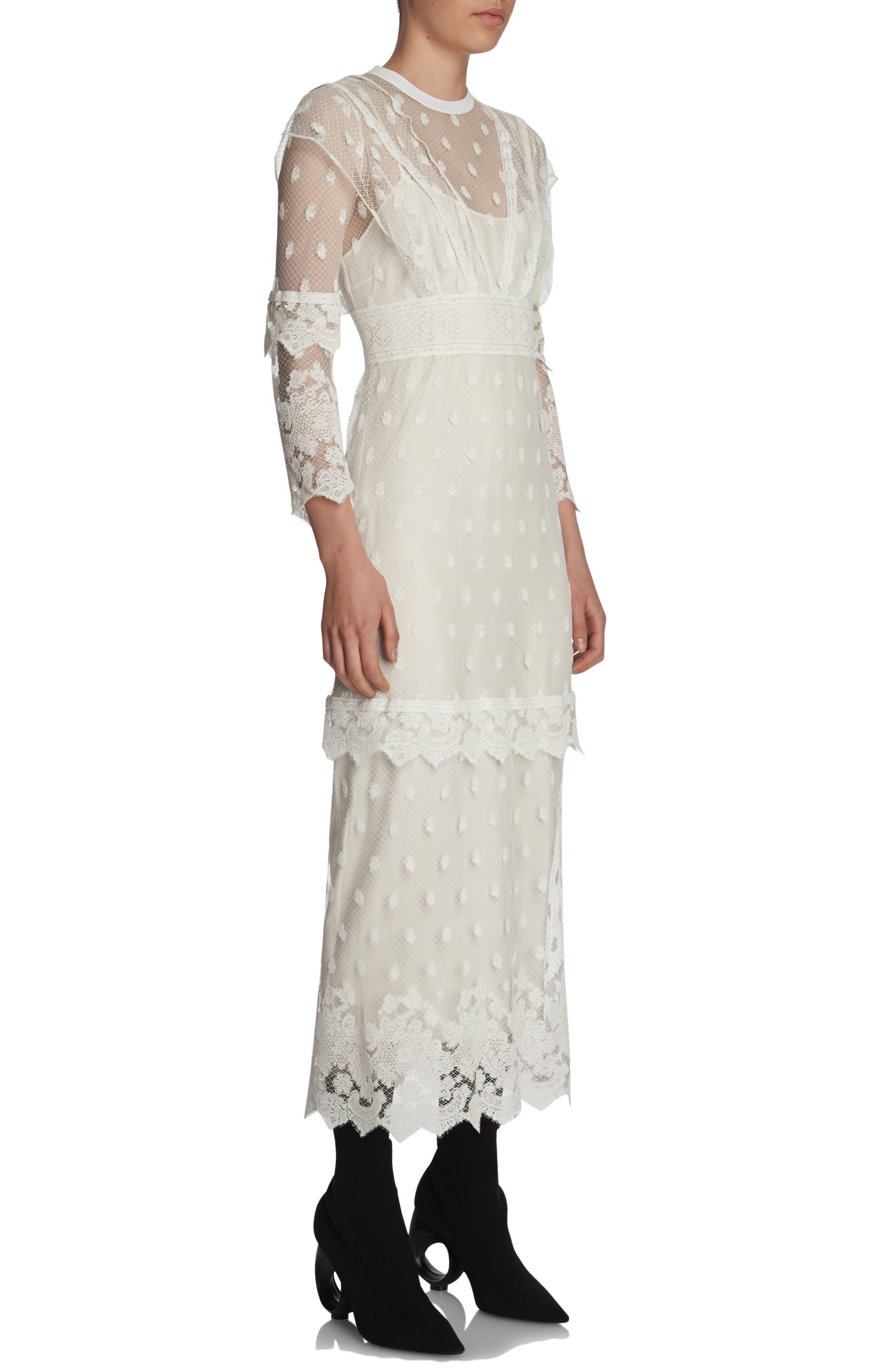 Alternate Image 3  - Burberry Lace Midi Dress