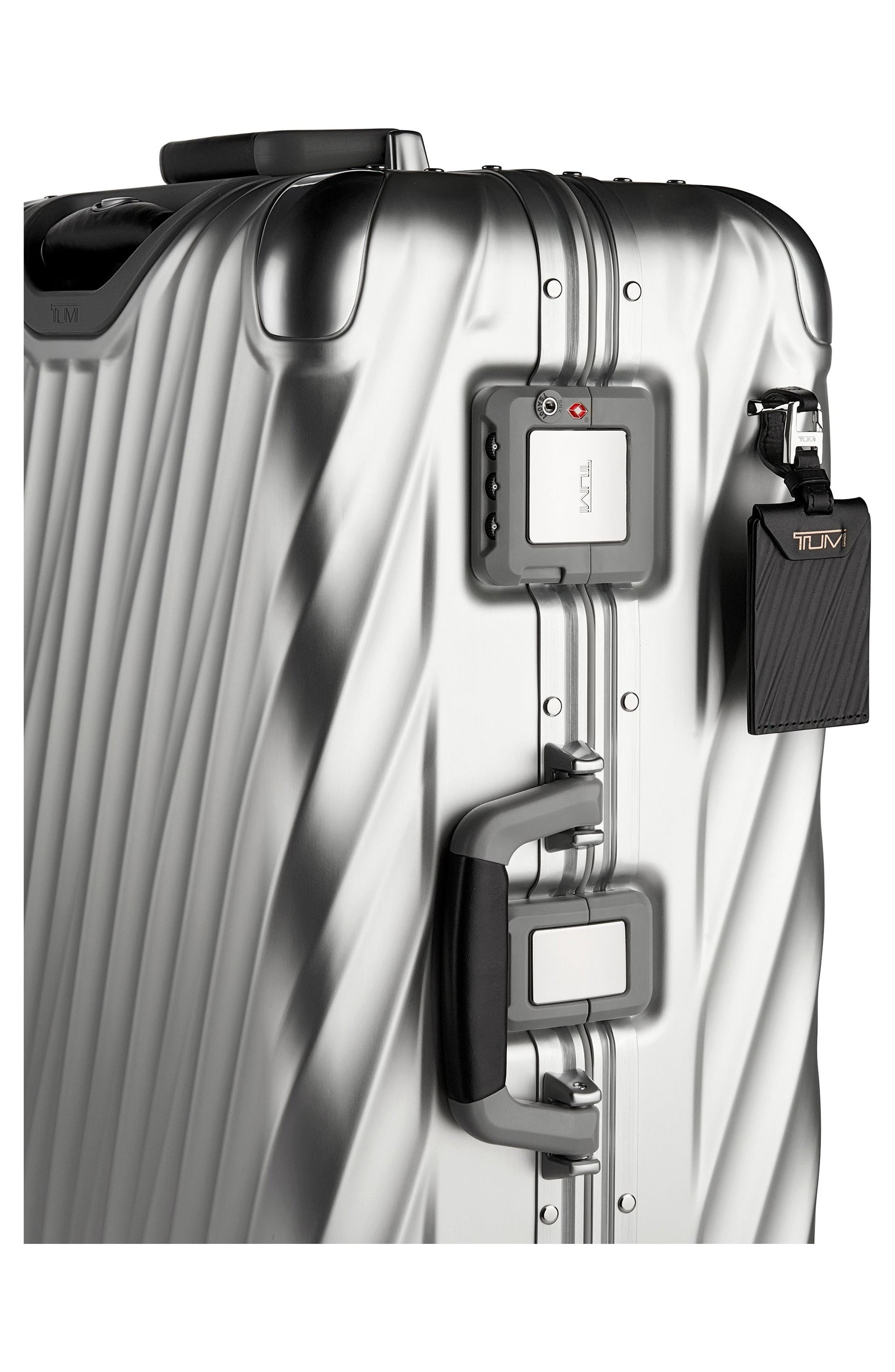 19-Degree Collection Wheeled Aluminum Short Trip Packing Case,                             Alternate thumbnail 4, color,                             Silver