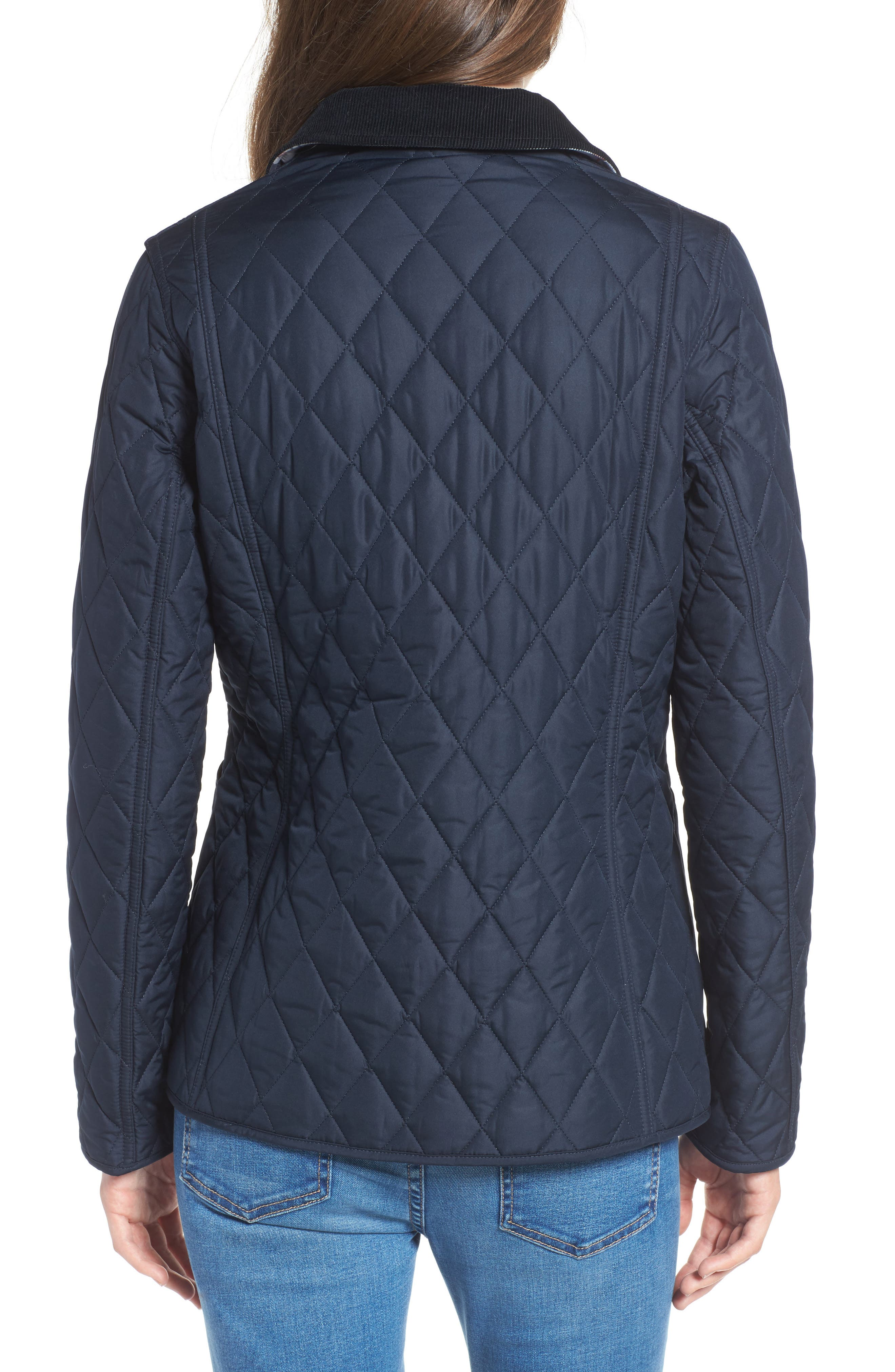 Spring Annandale Quilted Jacket,                             Alternate thumbnail 2, color,                             Navy/ Summer Tartan
