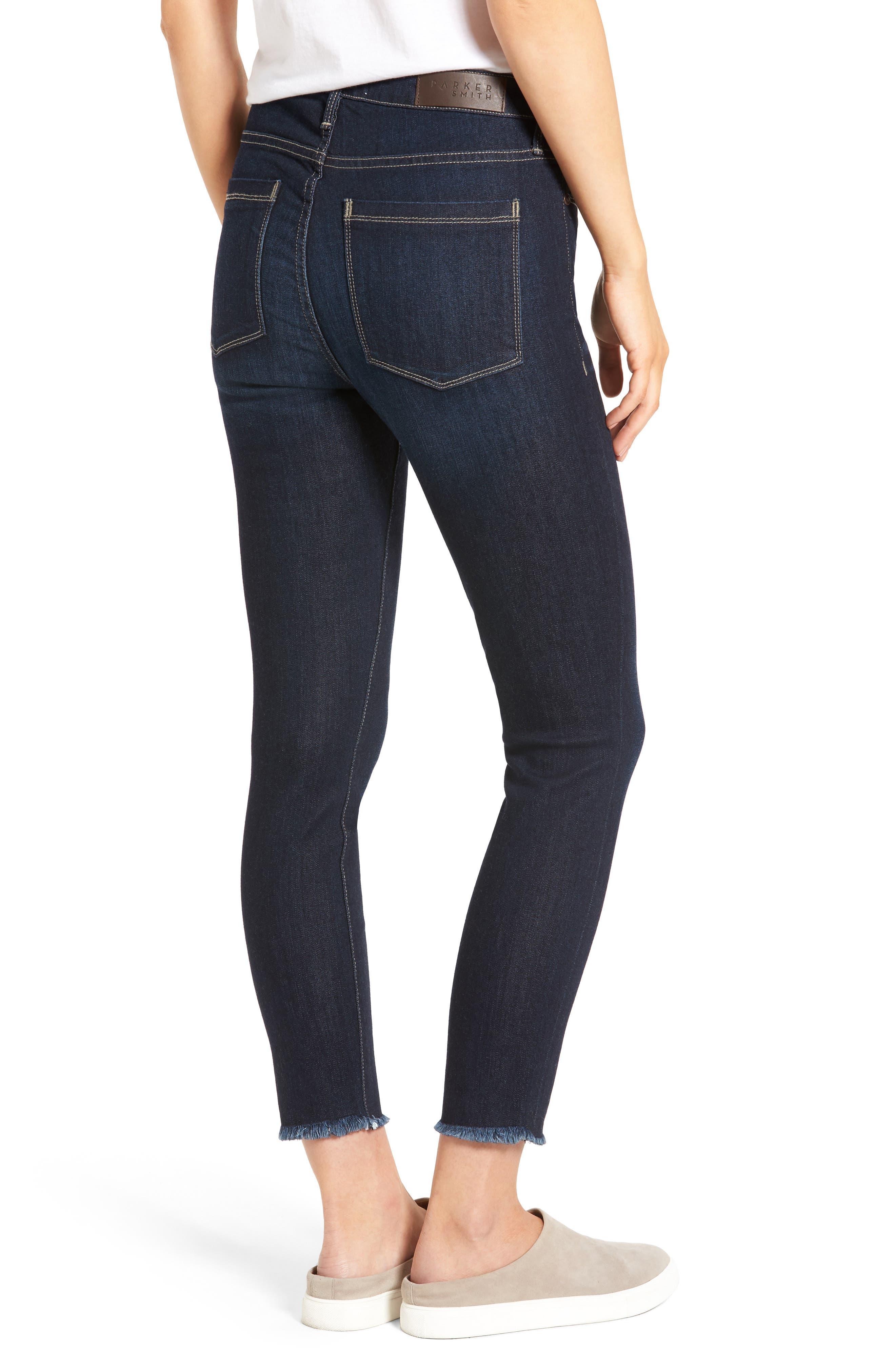 Bombshell Raw Hem Stretch Skinny Jeans,                             Alternate thumbnail 2, color,                             Horizon