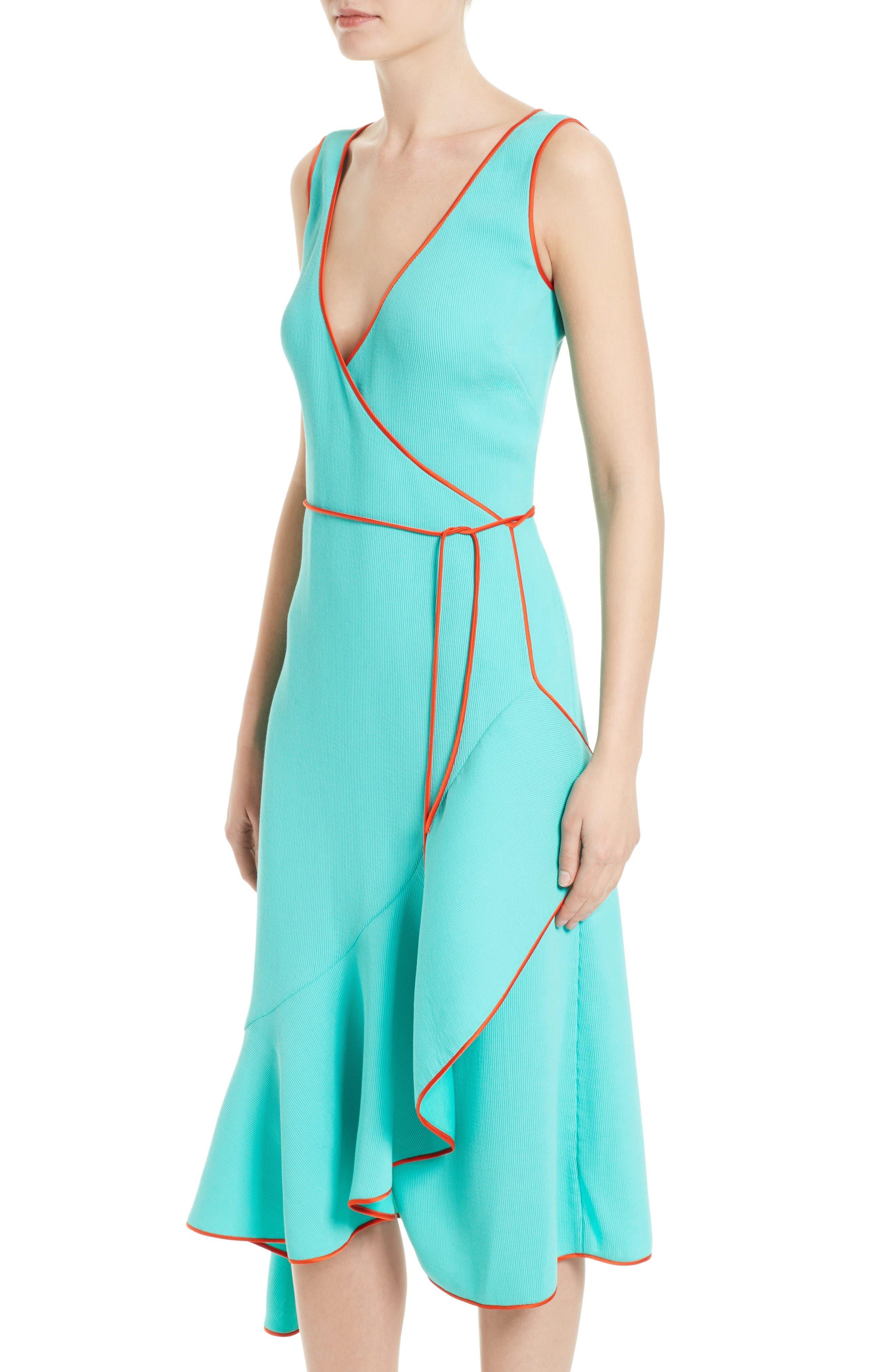 Alternate Image 4  - Diane von Furstenberg Asymmetrical Ruffle Wrap Midi Dress