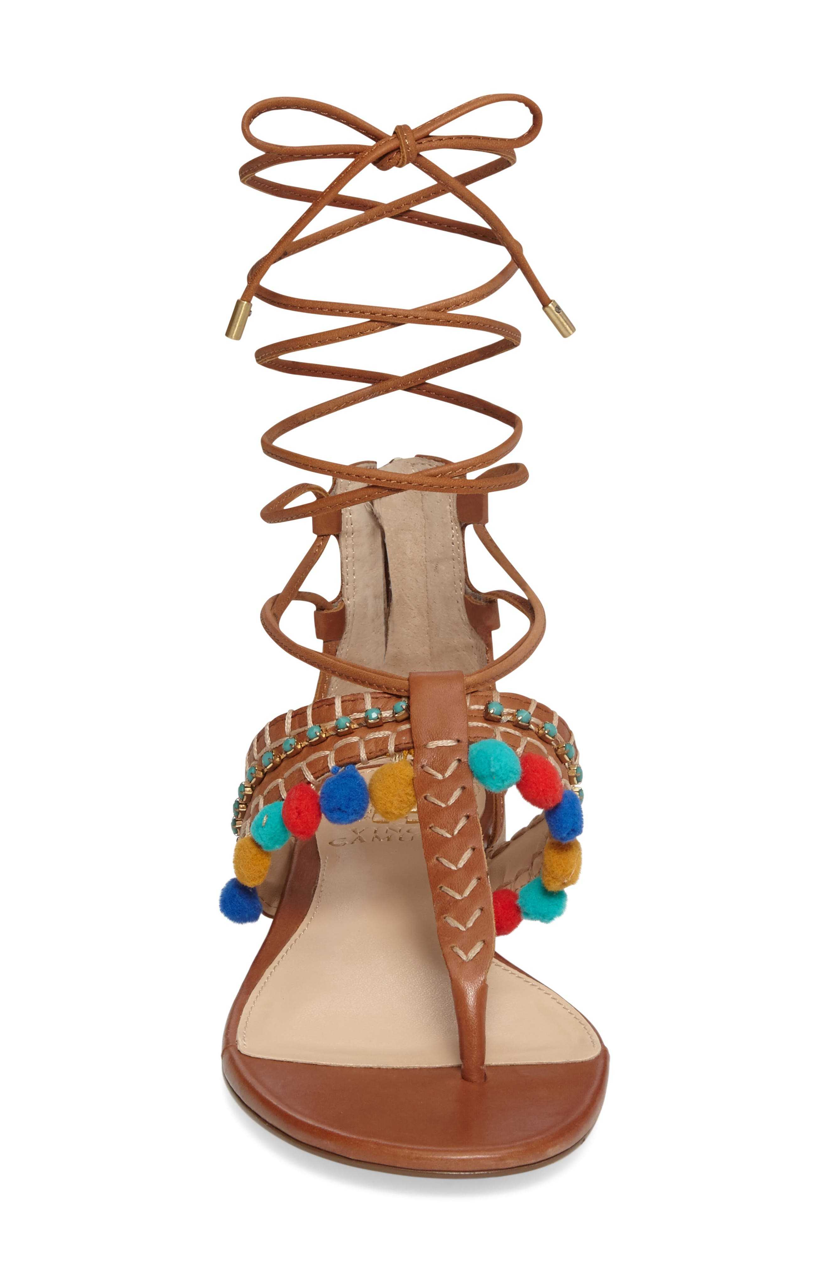 Alternate Image 3  - Vince Camuto Balisa Embellished Lace-Up Sandal (Women)