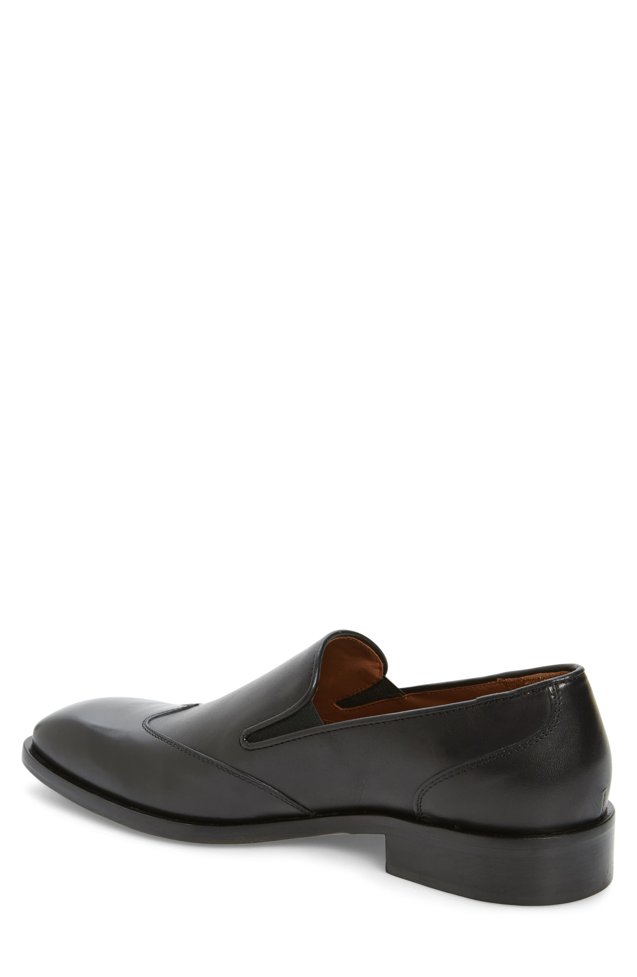 Valente Venetian Loafer,                             Alternate thumbnail 2, color,                             Black Leather