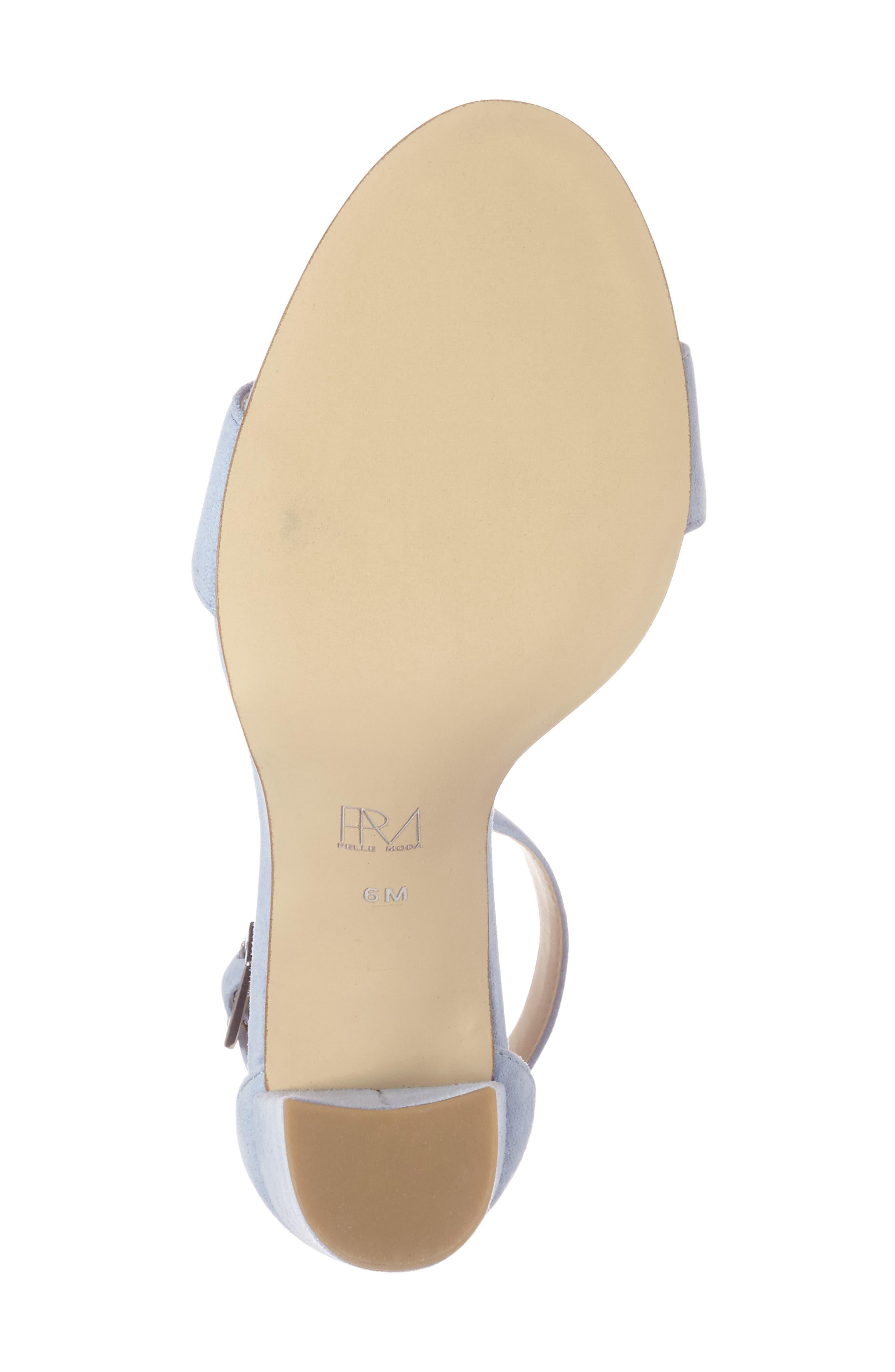 'Bonnie' Ankle Strap Sandal,                             Alternate thumbnail 4, color,                             Powder Blue Leather