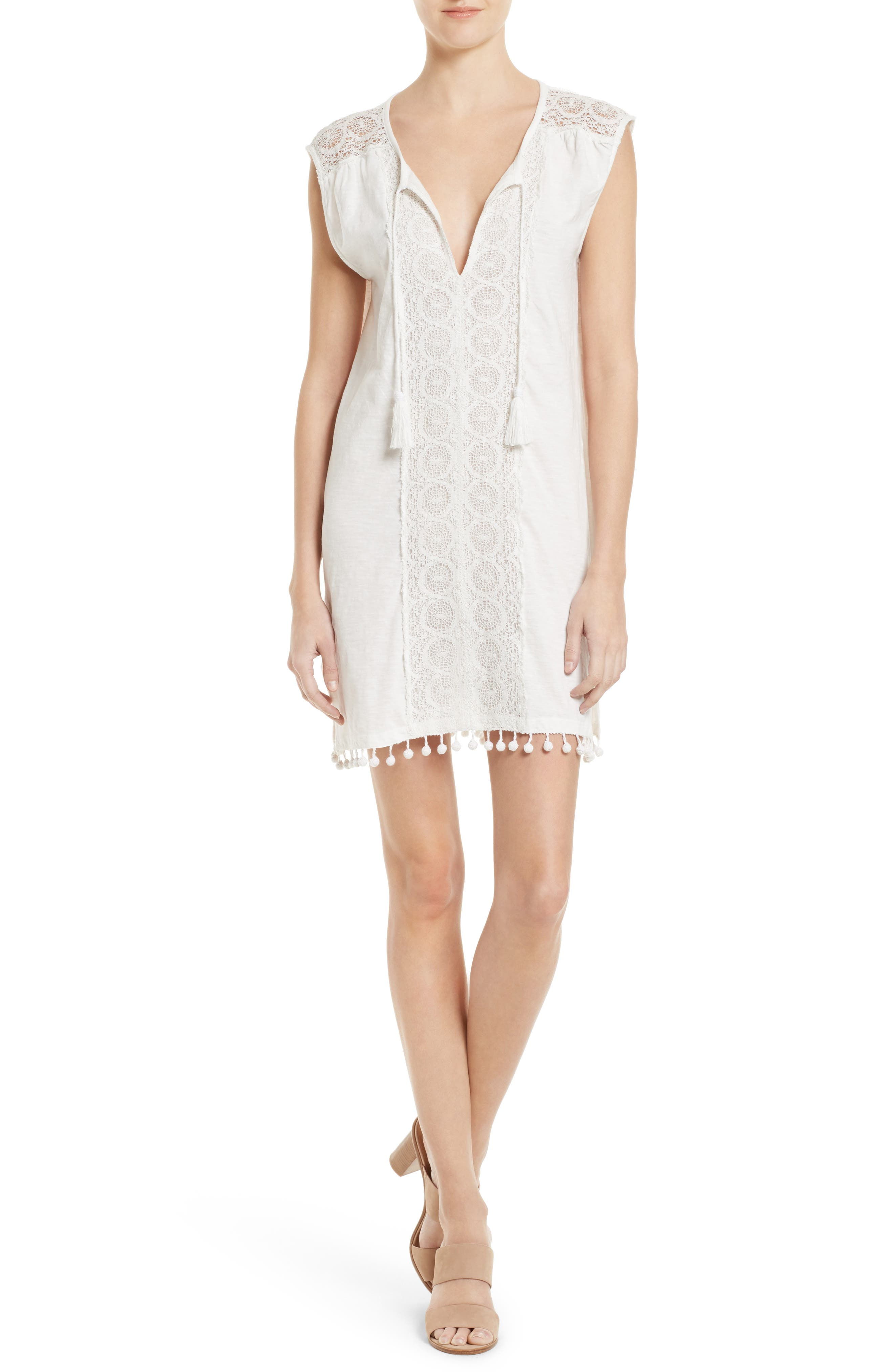 Soft Joie Kanae Lace Trim Shift Dress