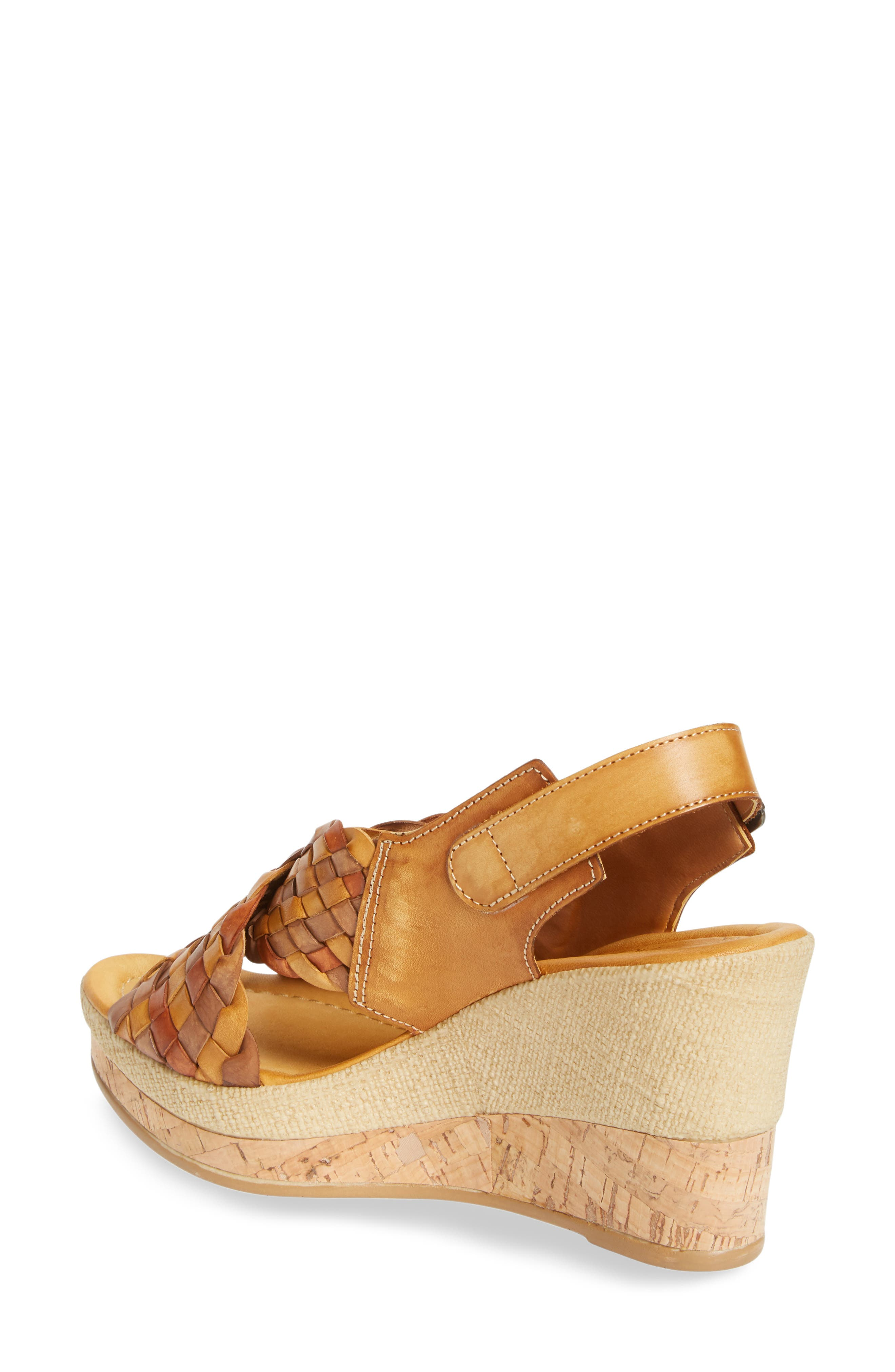 Love Wedge Sandal,                             Alternate thumbnail 2, color,                             Earth Leather
