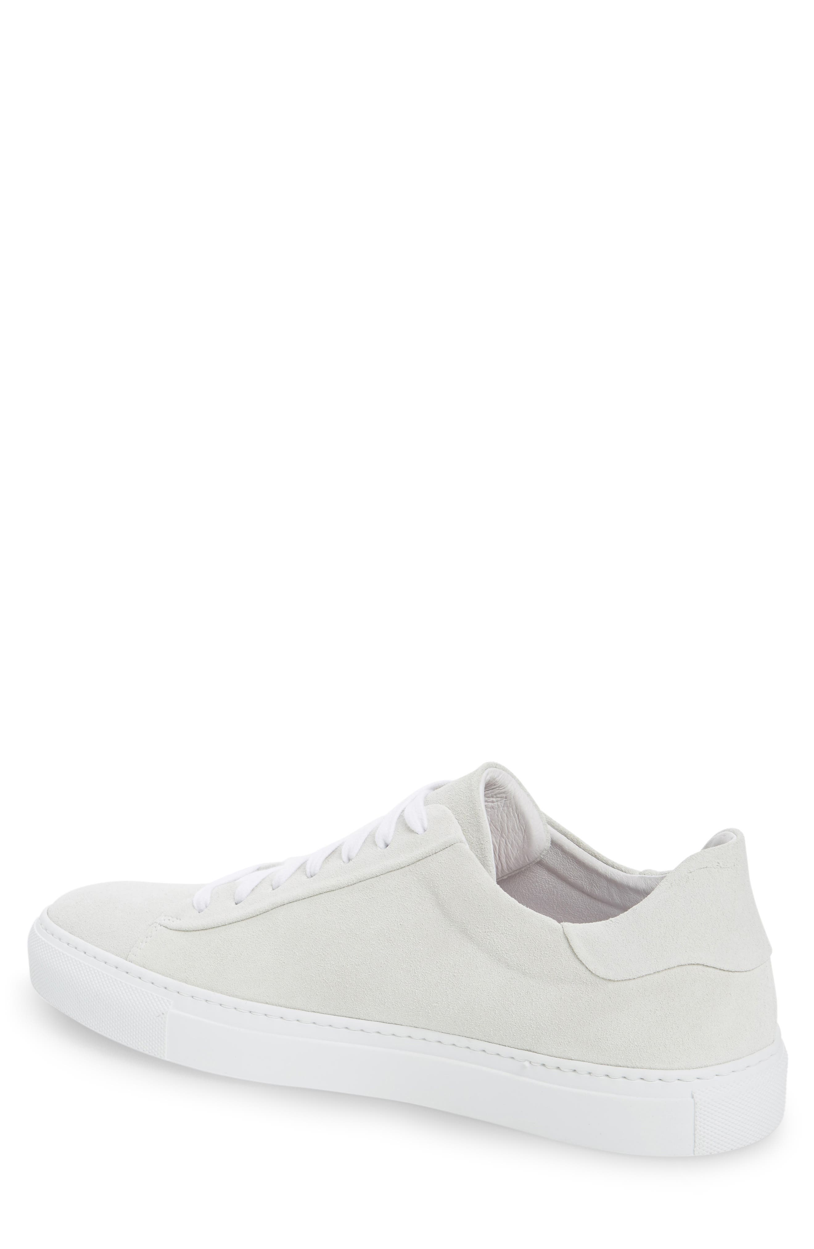 Court Sneaker,                             Alternate thumbnail 2, color,                             White Suede