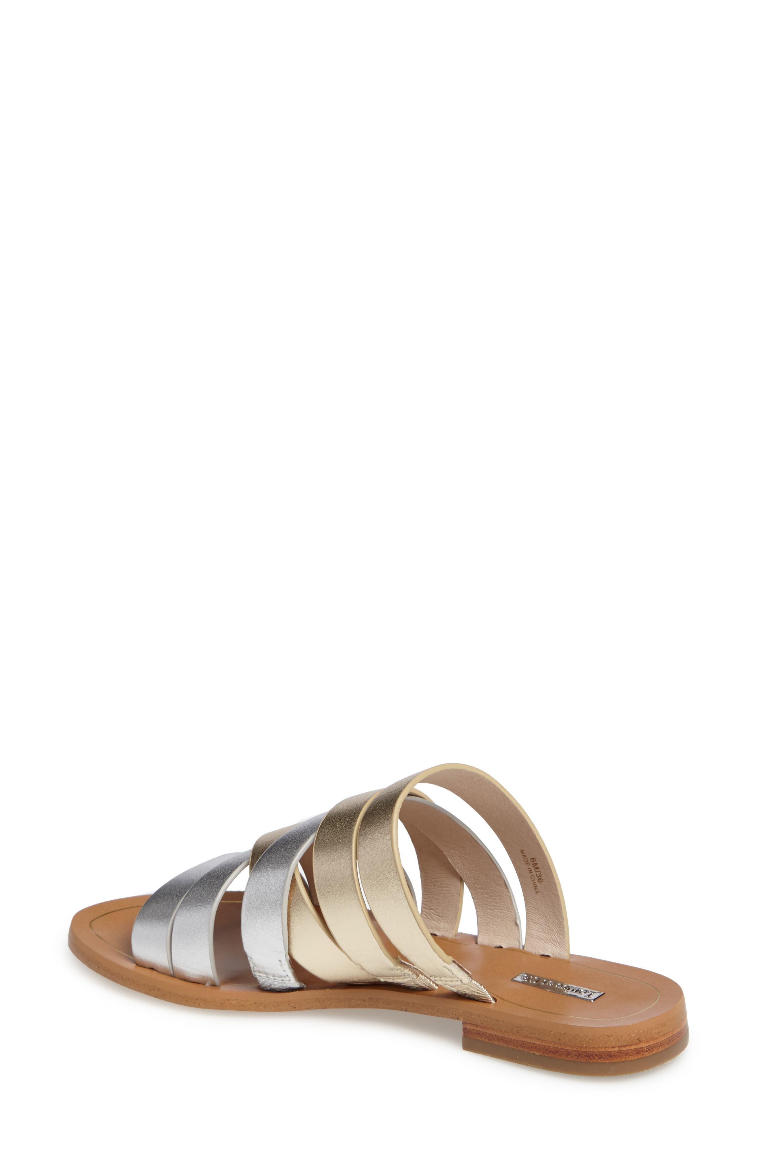 Braelynn Slide Sandal,                             Alternate thumbnail 2, color,                             Sterling Leather