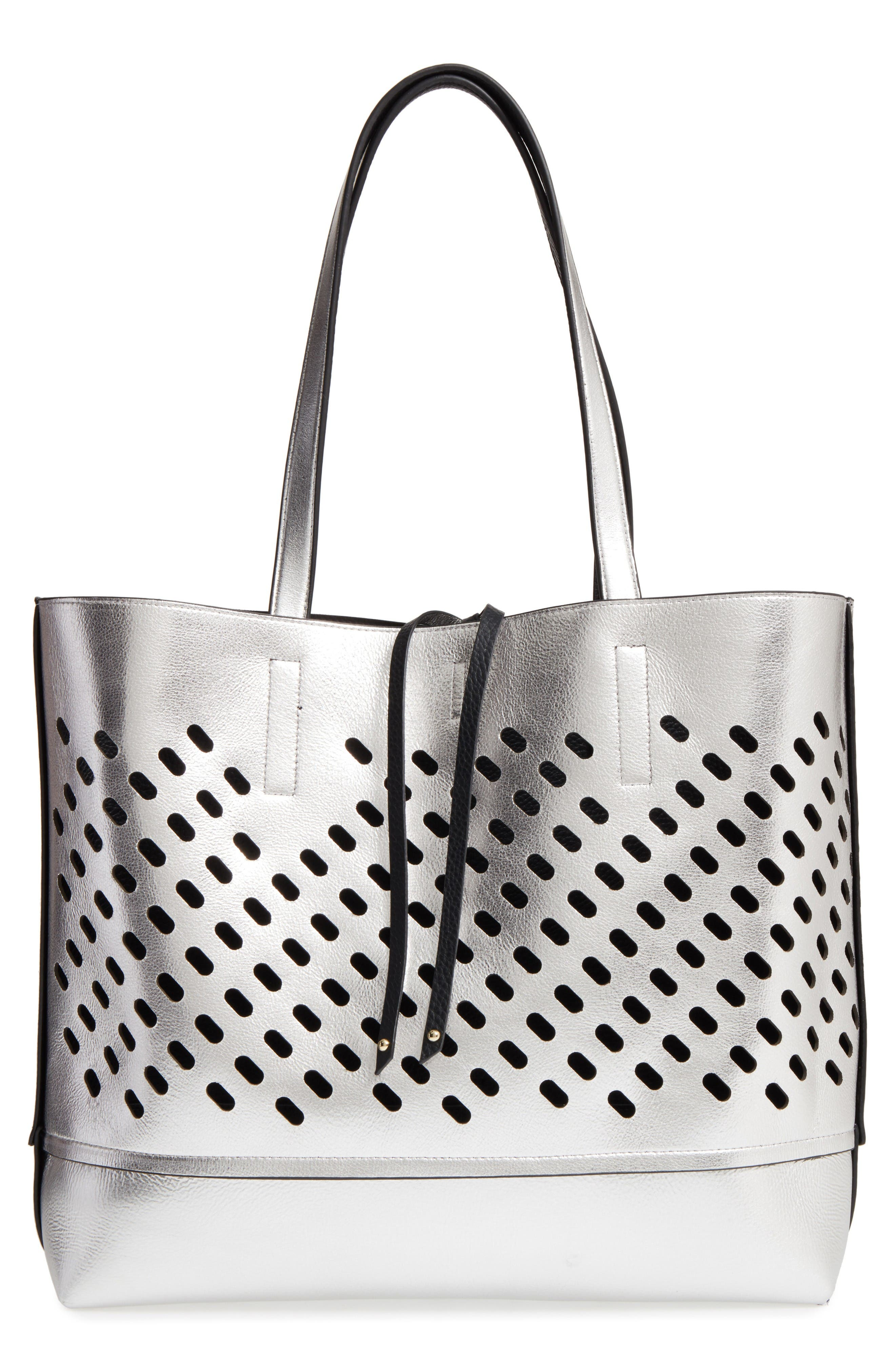 Alternate Image 5  - POVERTY FLATS by rian Reversible Faux Leather Tote