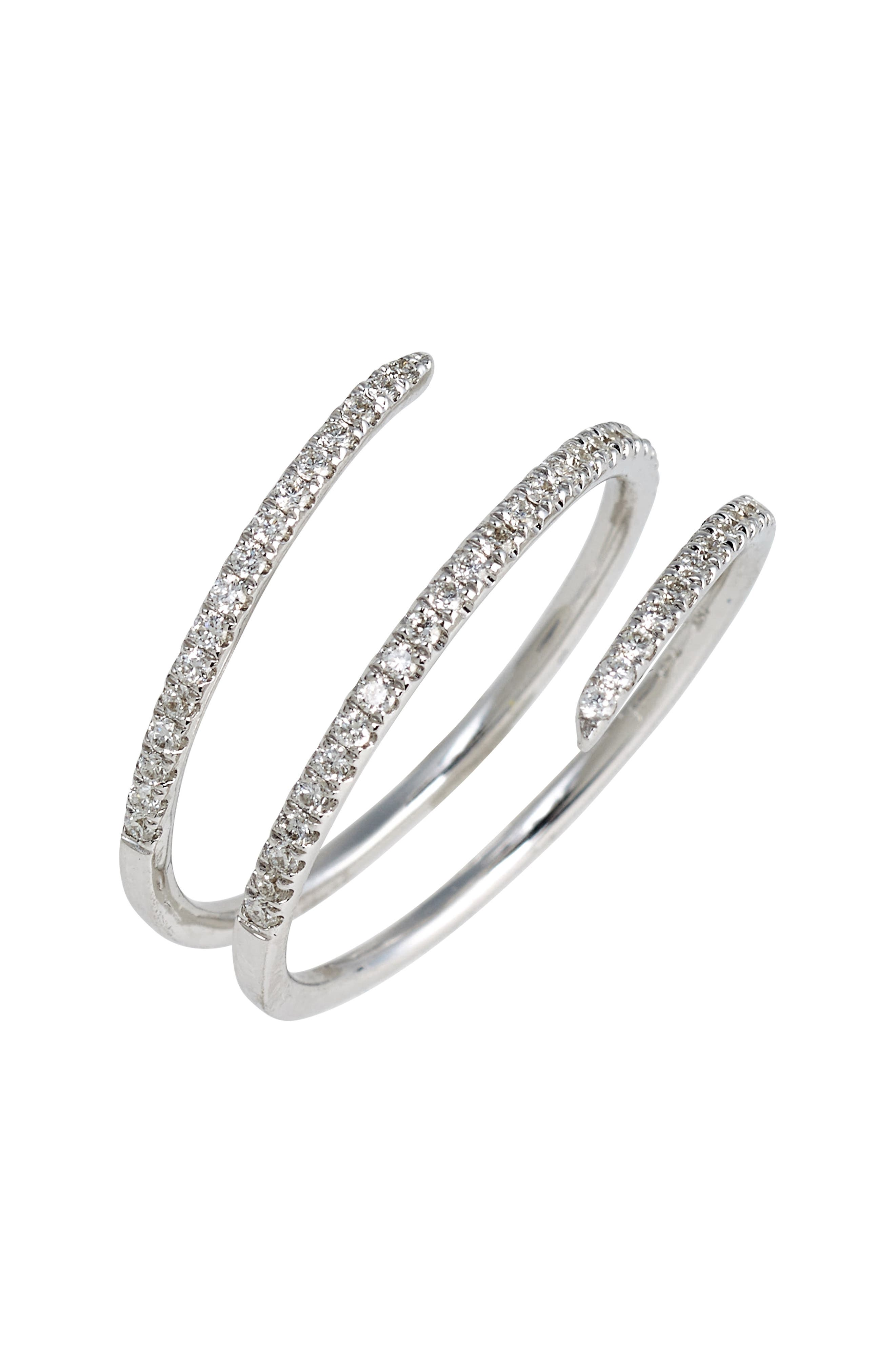 Bony Levy Diamond Coil Ring (Nordstrom Exclusive)