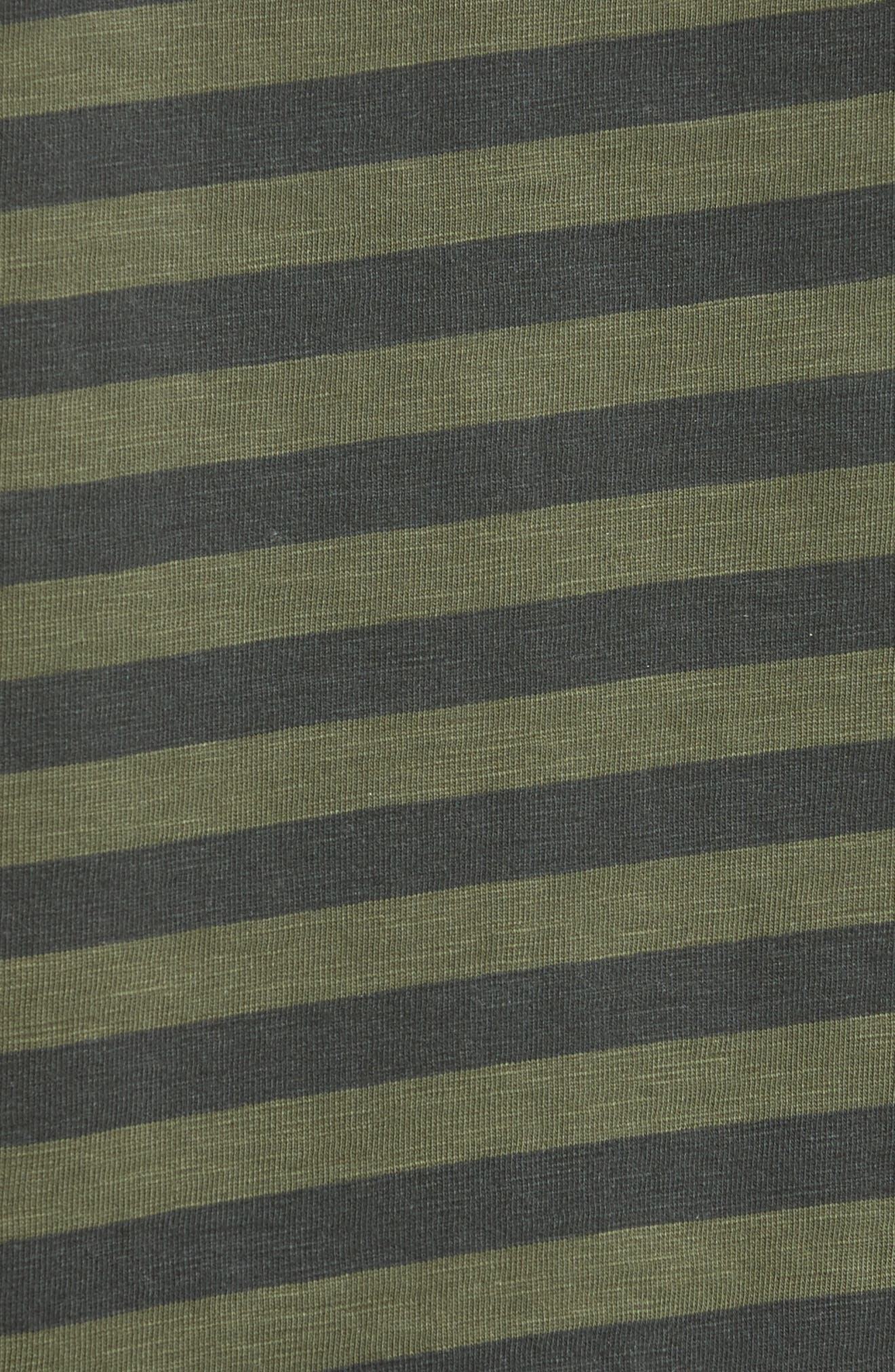 Blake Stripe T-Shirt,                             Alternate thumbnail 5, color,                             Dark Olive/ Black