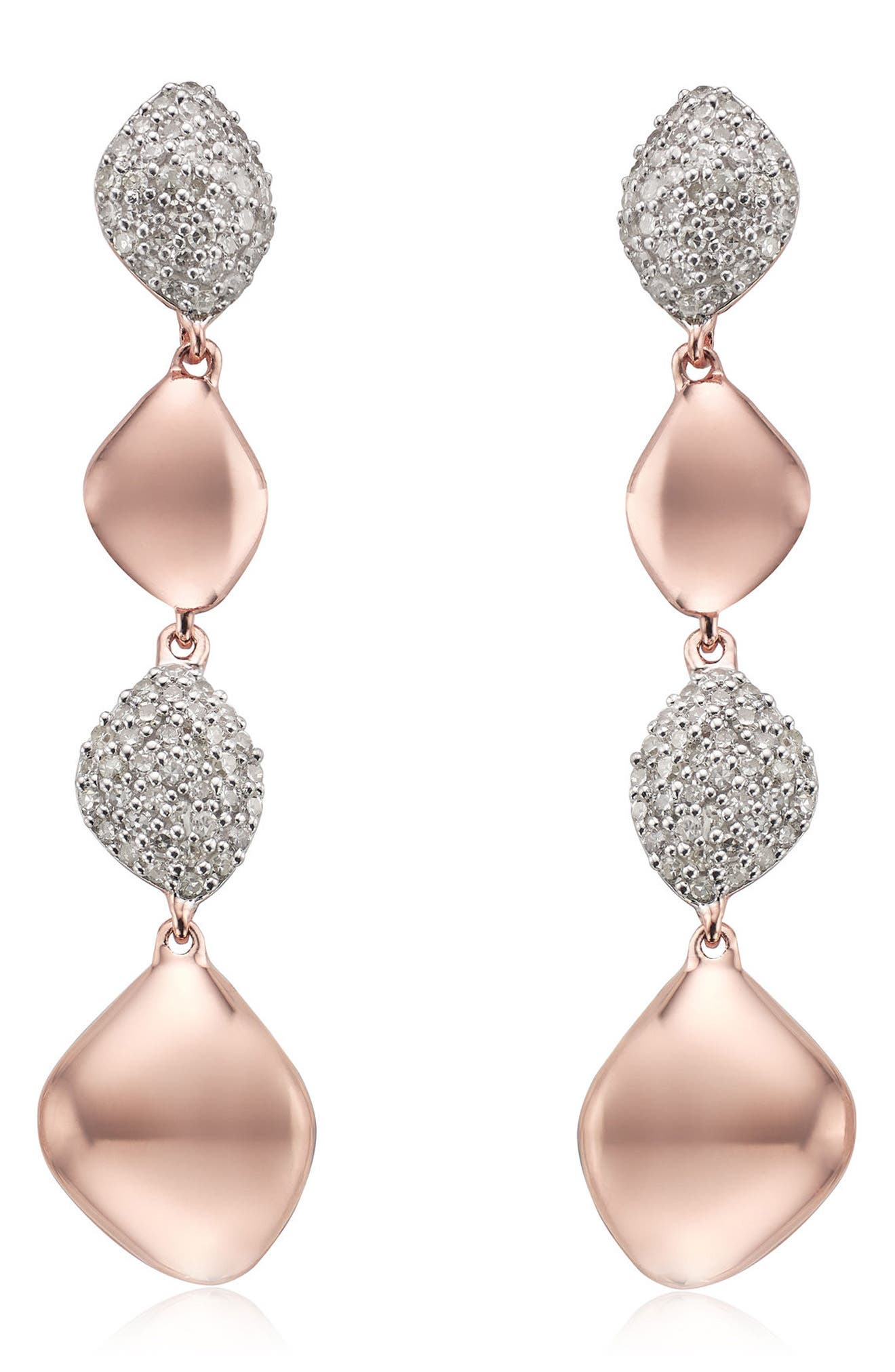 MONICA VINADER Nura Vermeil Diamond Drop Earrings