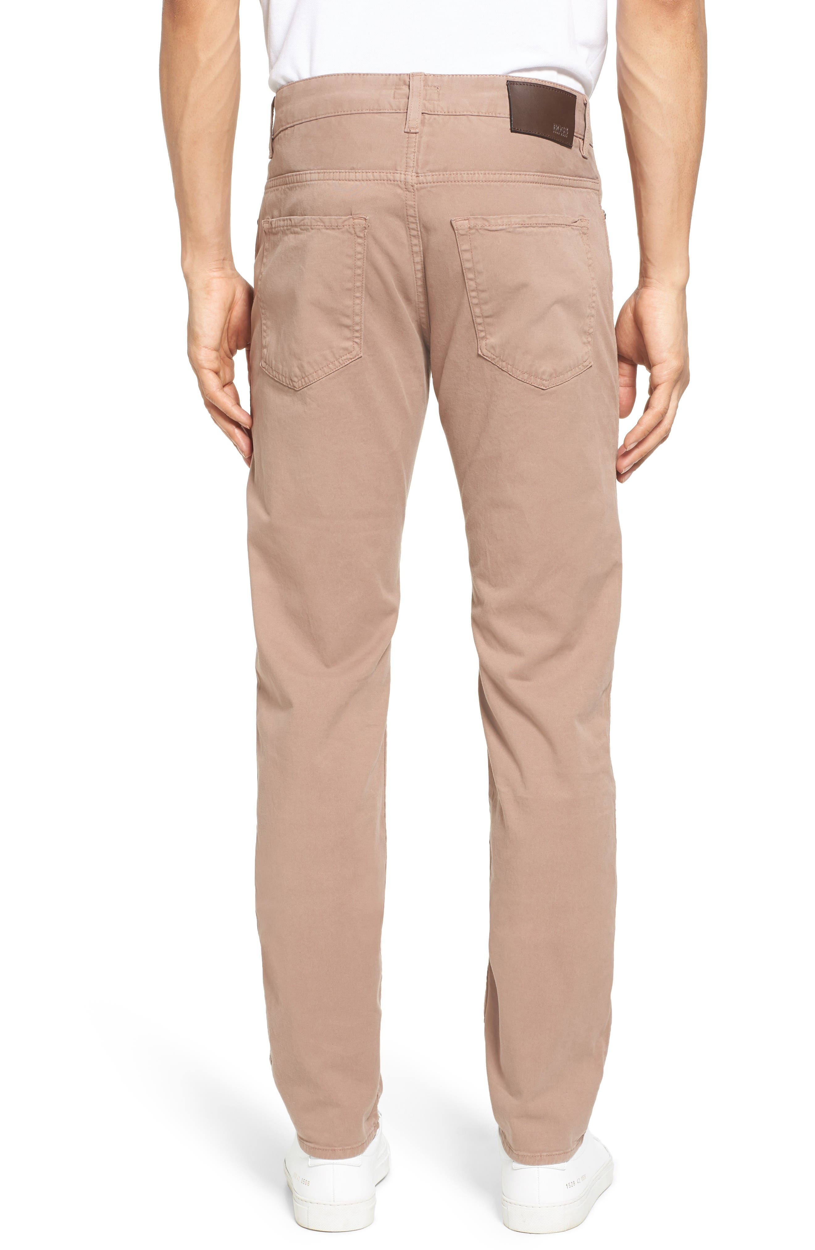 Delaware Slim Fit Stretch Cotton Pants,                             Alternate thumbnail 2, color,                             Khaki