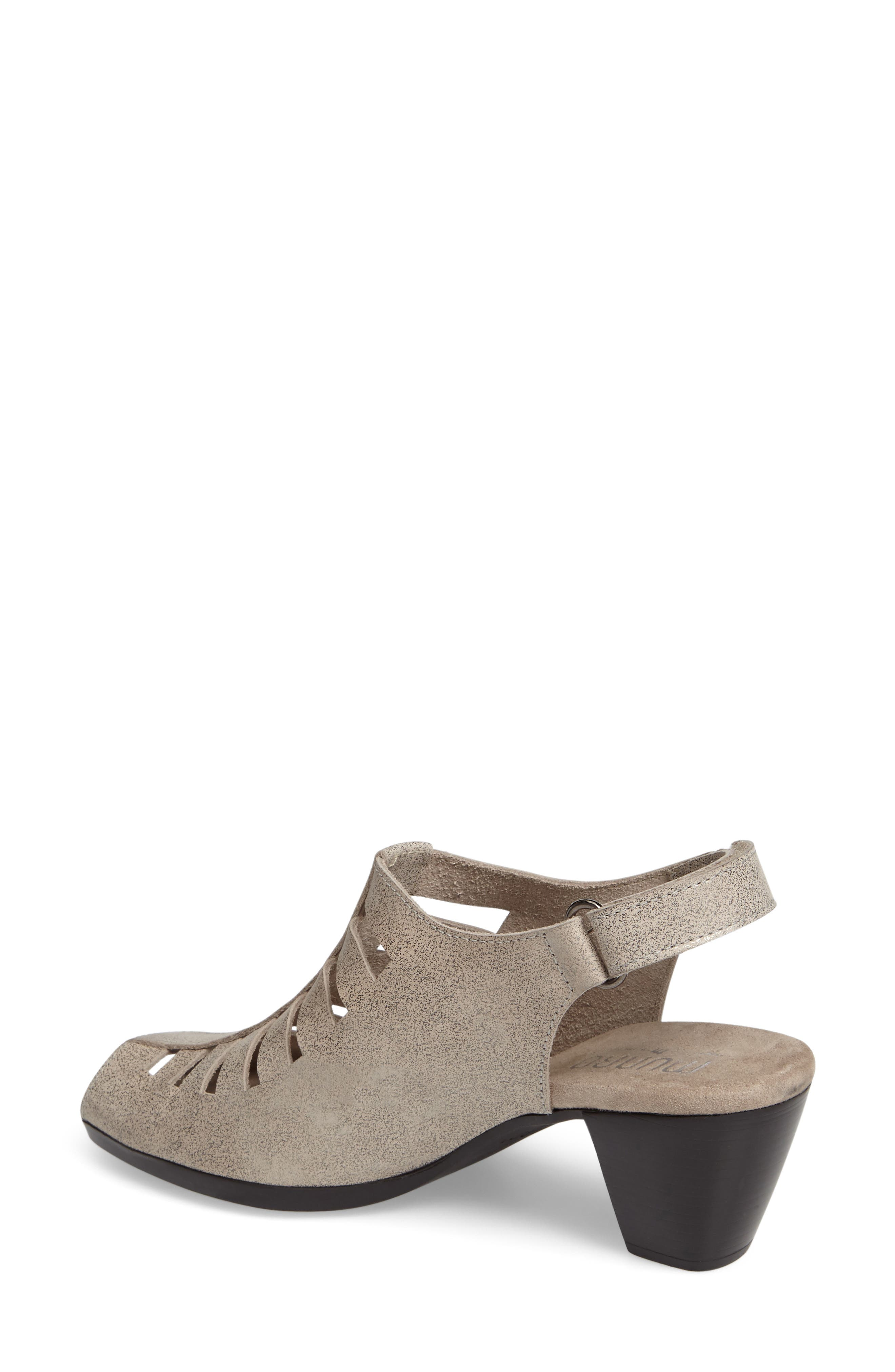 'Abby' Slingback Sandal,                             Alternate thumbnail 2, color,                             Silver Metallic