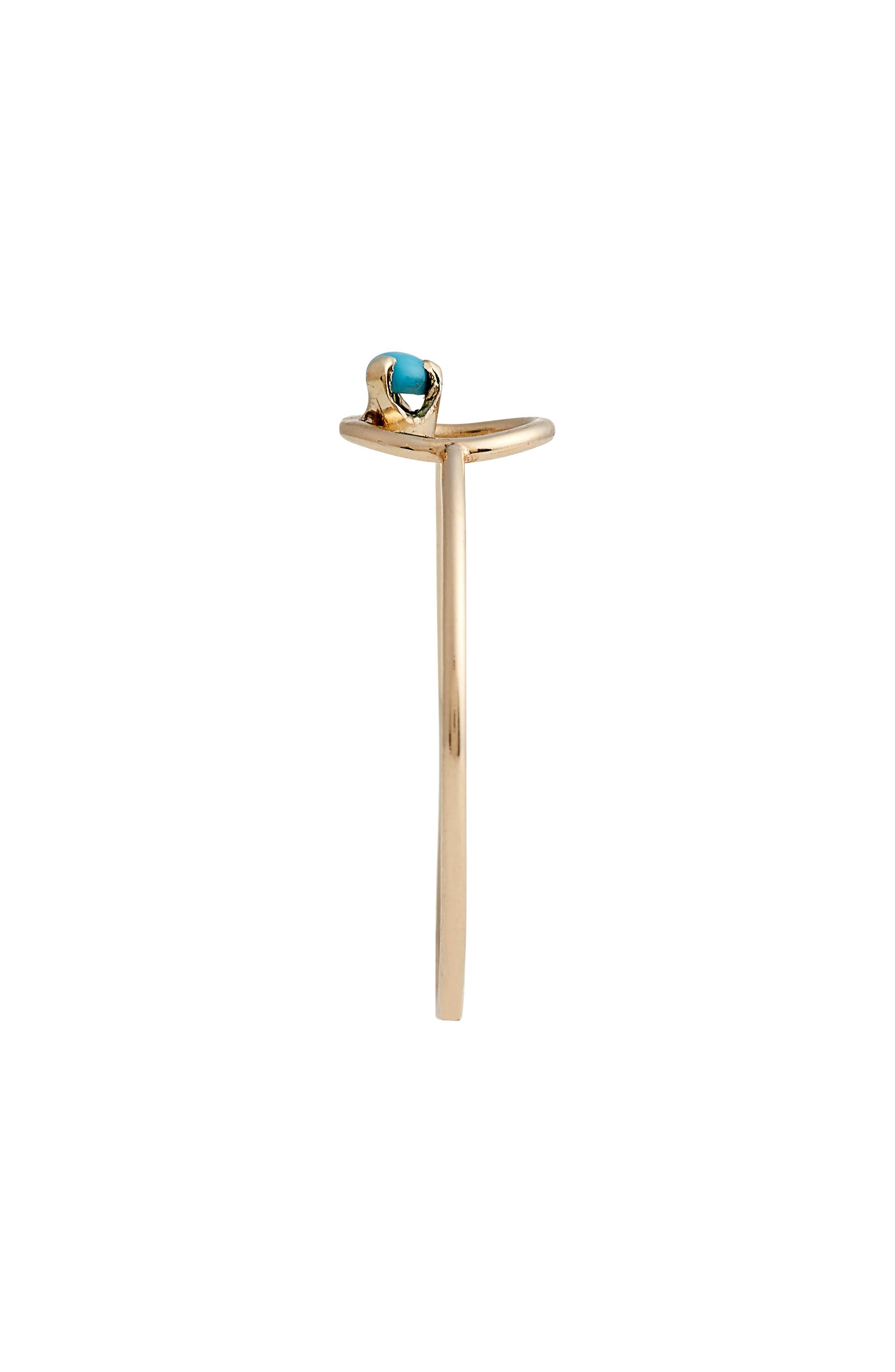 Alternate Image 3  - Zoë Chicco Turquoise Circle Ring
