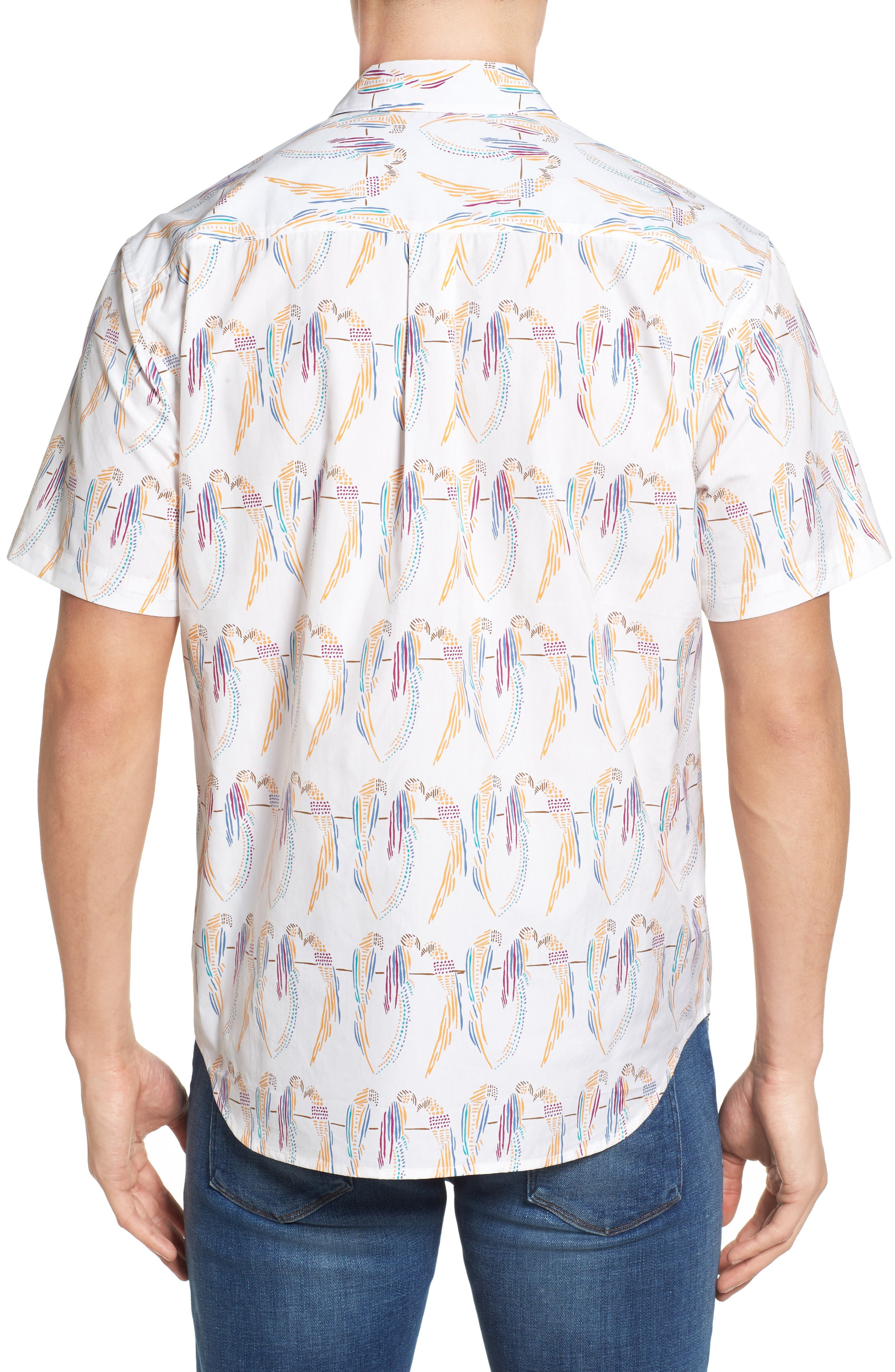 Alternate Image 2  - Tommy Bahama Meet the Parrots Standard Fit Sport Shirt