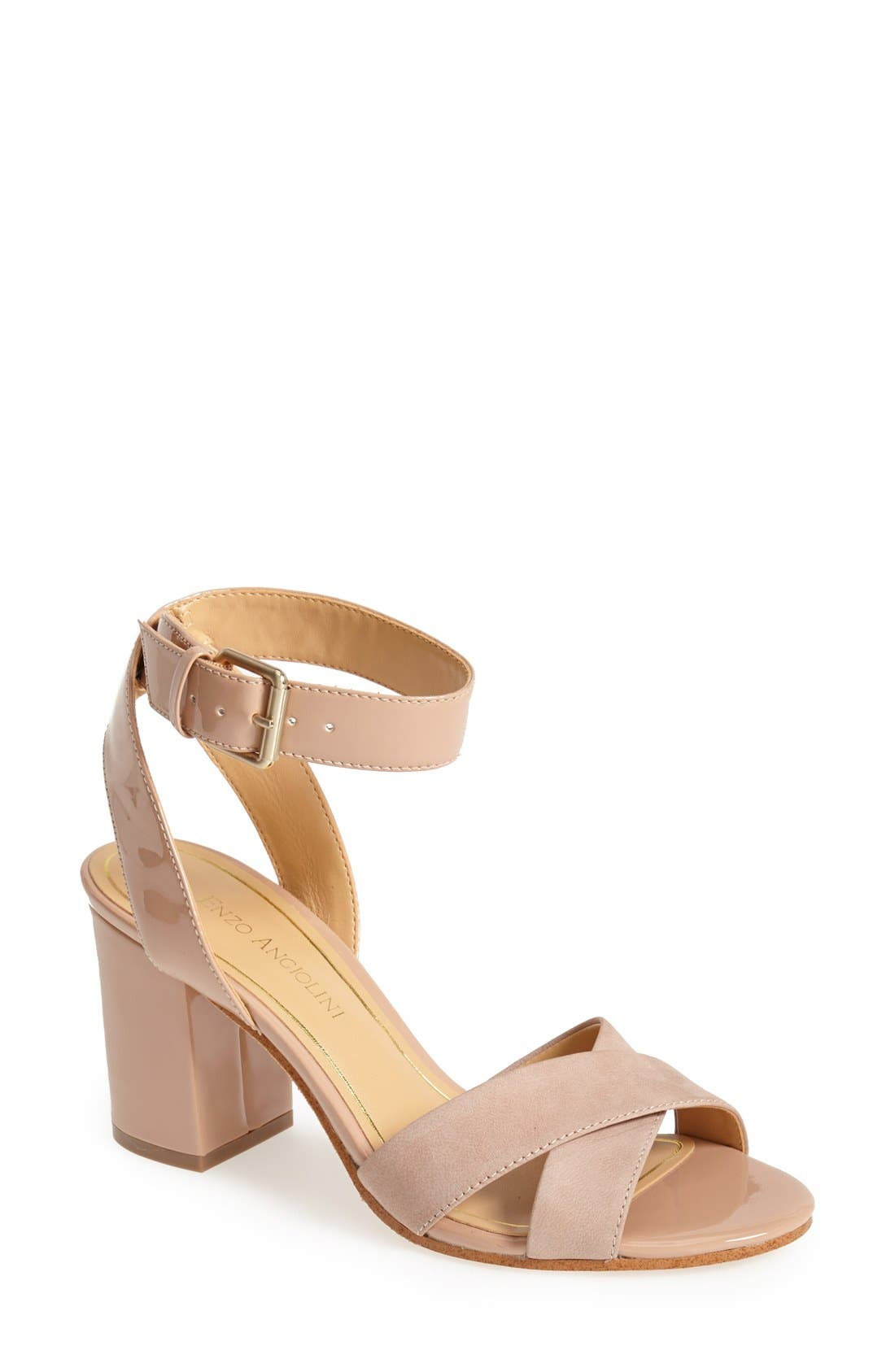 Alternate Image 1 Selected - Enzo Angiolini 'Gabele' Block Heel Sandal (Women)