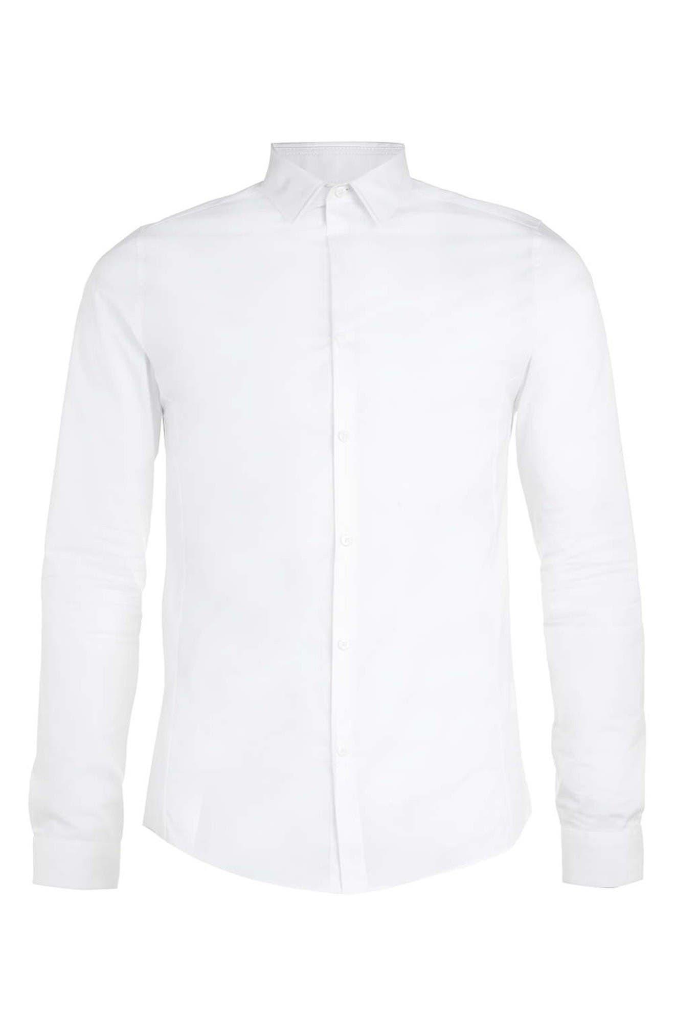 Long Sleeve Woven Shirt,                             Alternate thumbnail 6, color,                             White