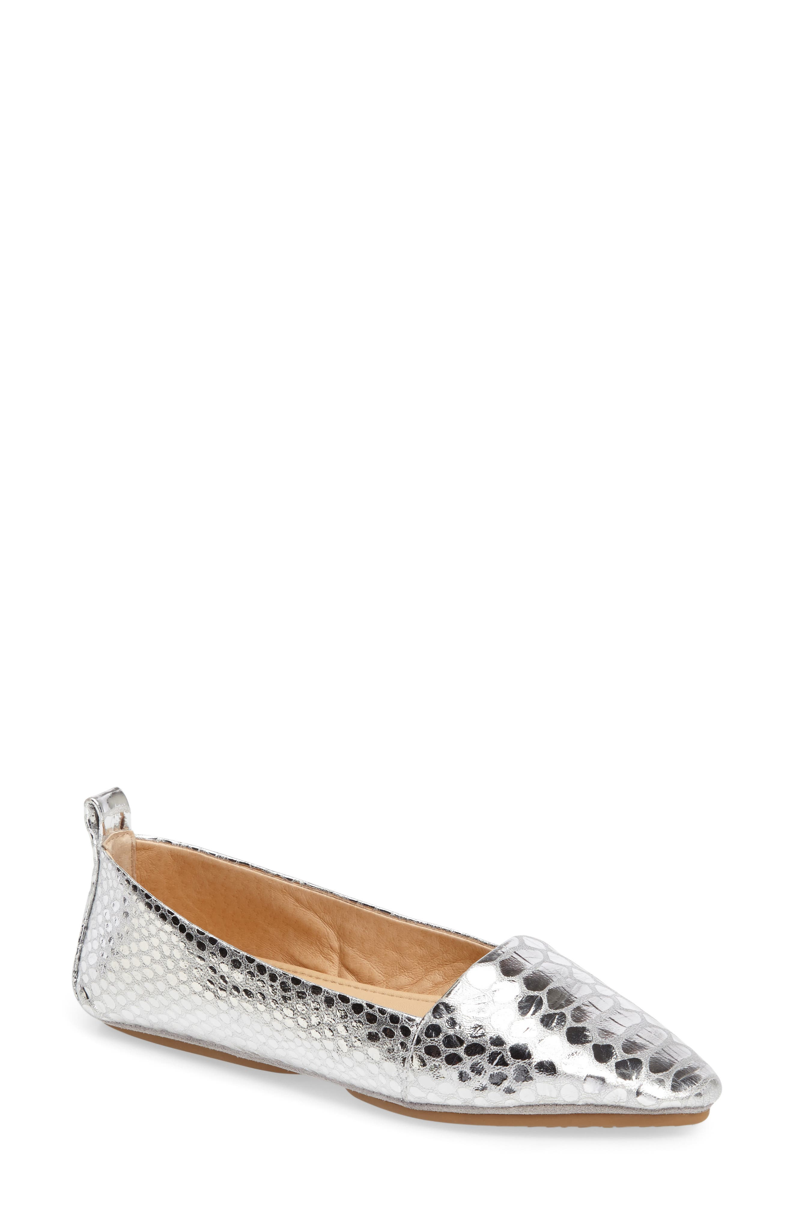 Vannah Flat,                         Main,                         color, Silver Leather