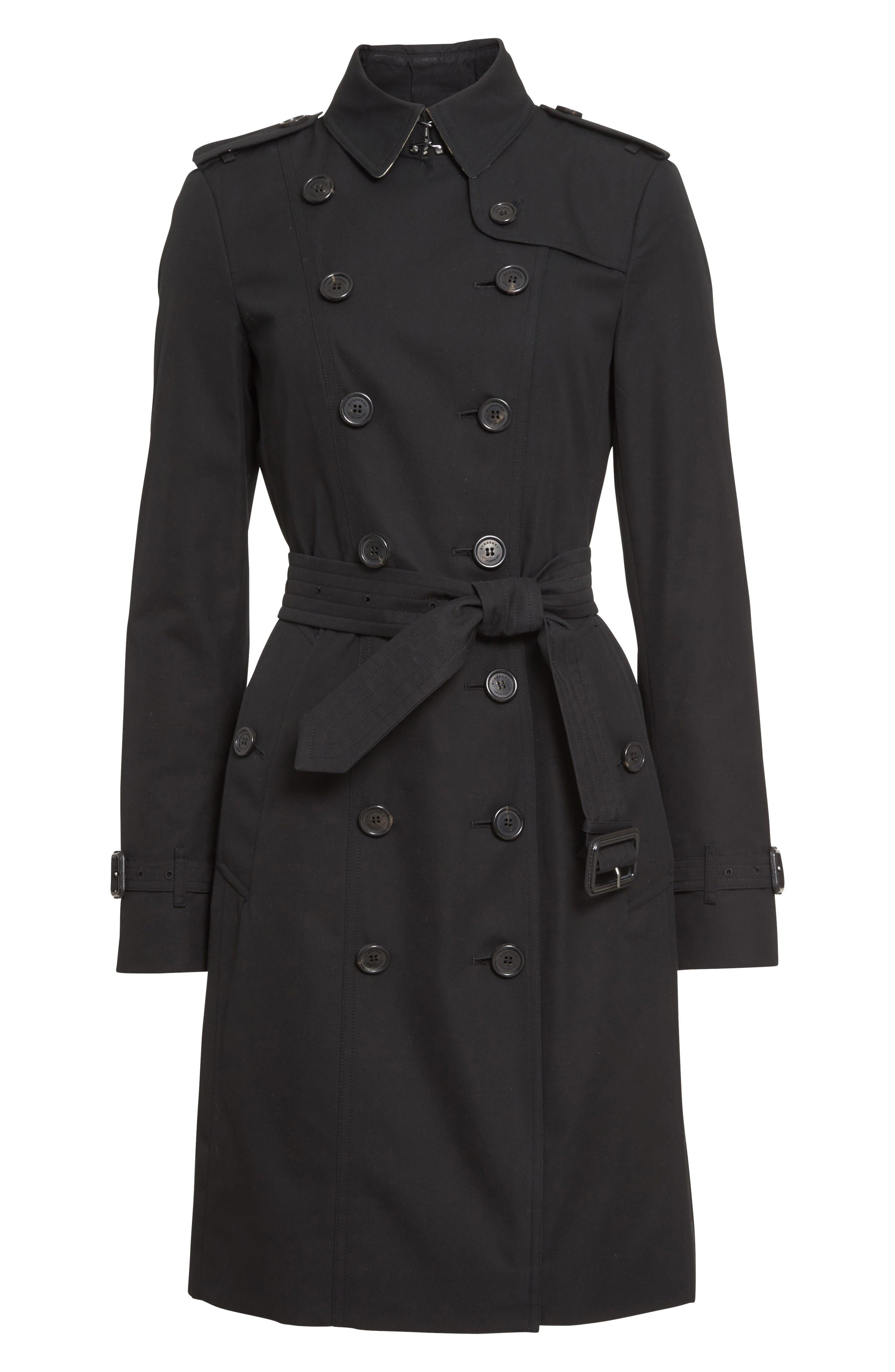 Alternate Image 4  - Burberry Sandringham Long Slim Trench Coat