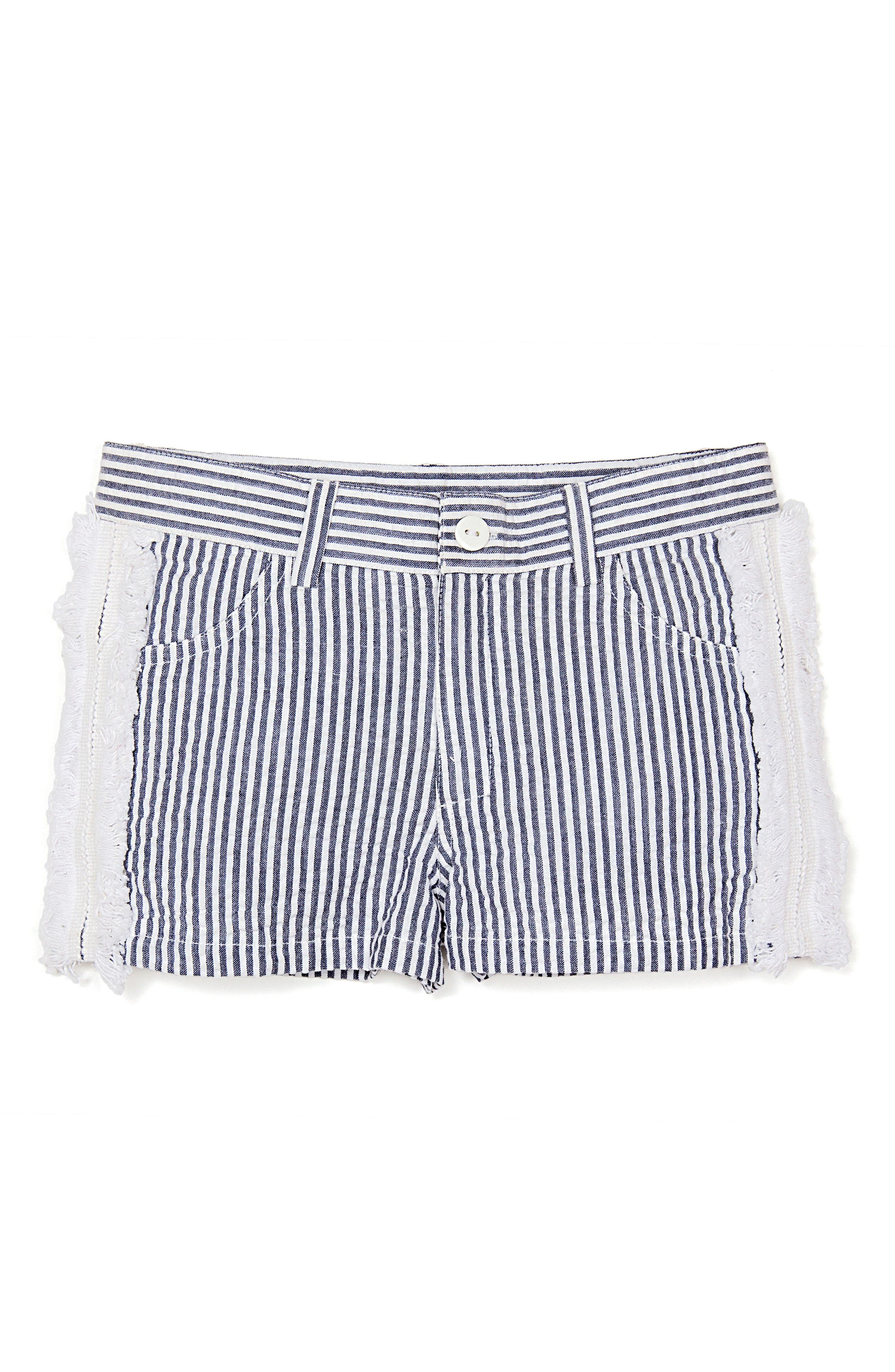 Seersucker Shorts,                         Main,                         color, Navy