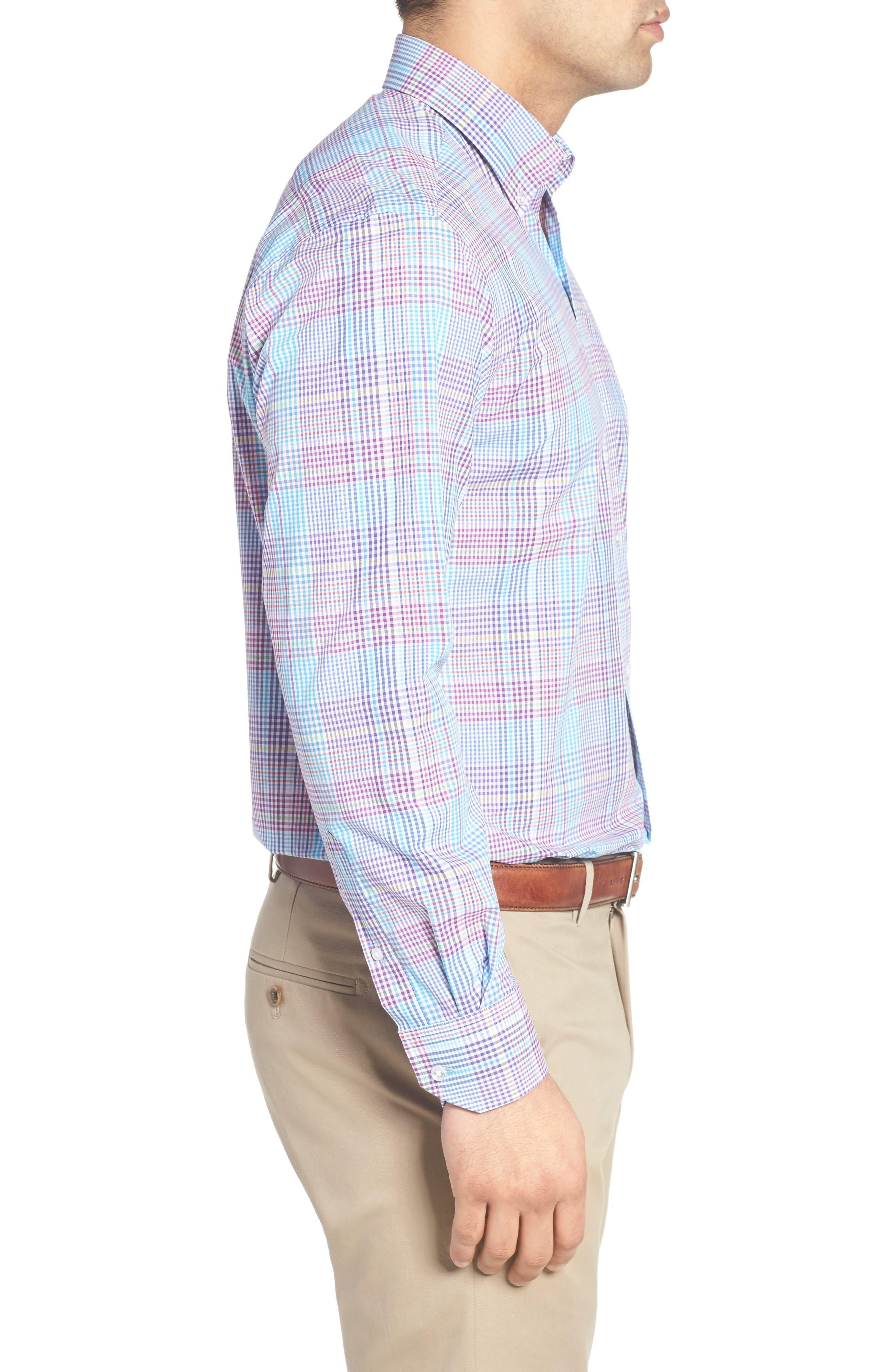 Alternate Image 3  - Tailorbyrd Arbor Plaid Sport Shirt