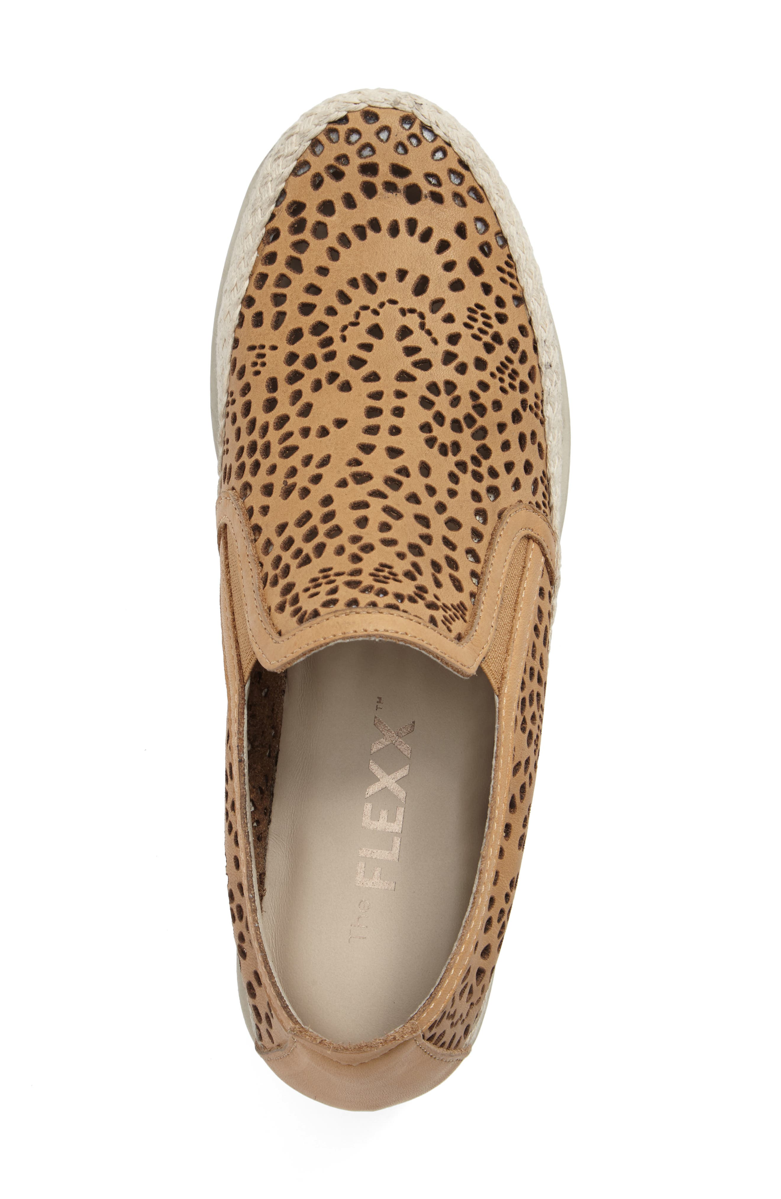 Call Me Perforated Slip-On Sneaker,                             Alternate thumbnail 3, color,                             Camel Leather