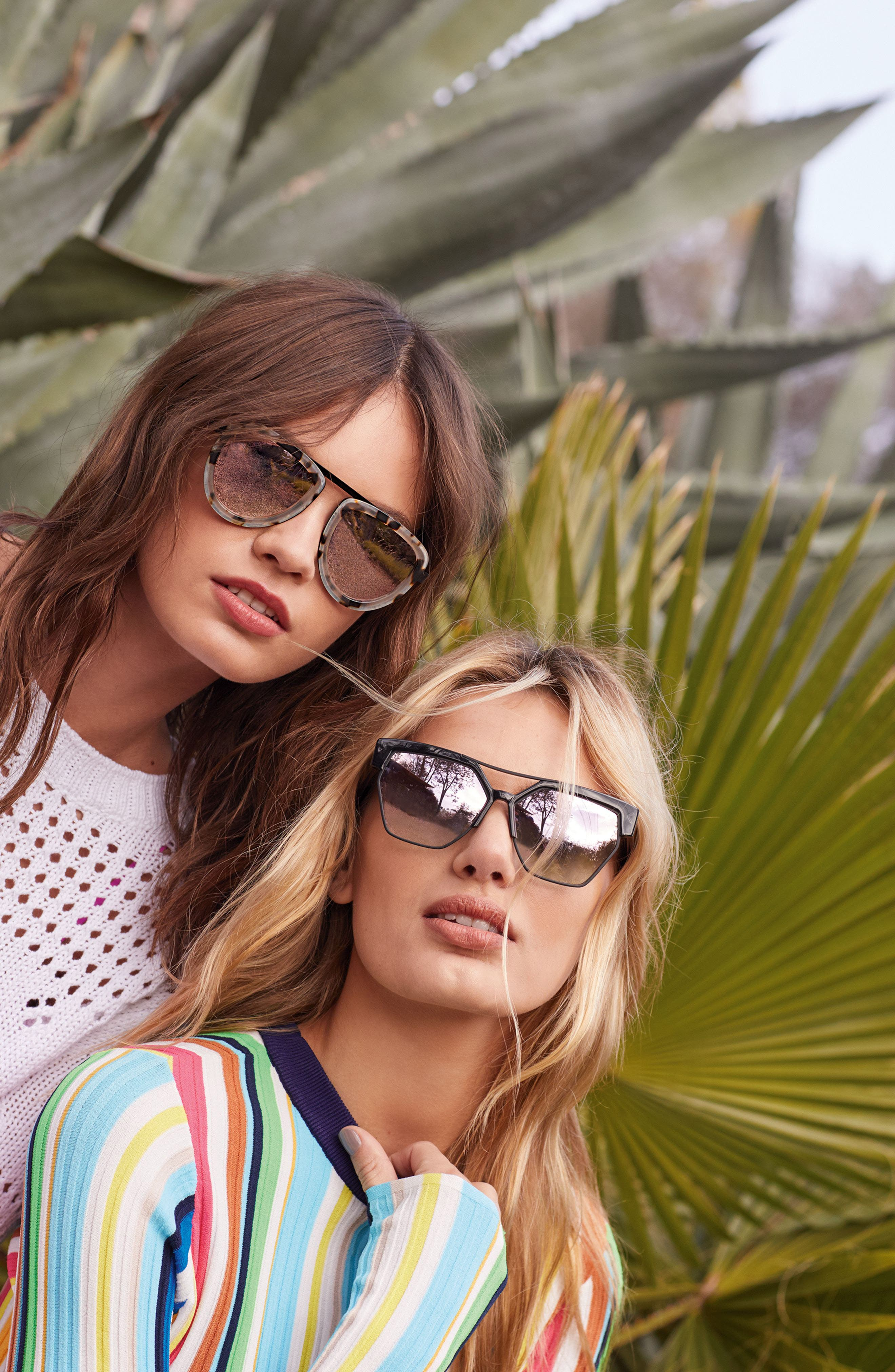 Alternate Image 3  - KENDALL + KYLIE 53mm Aviator Sunglasses