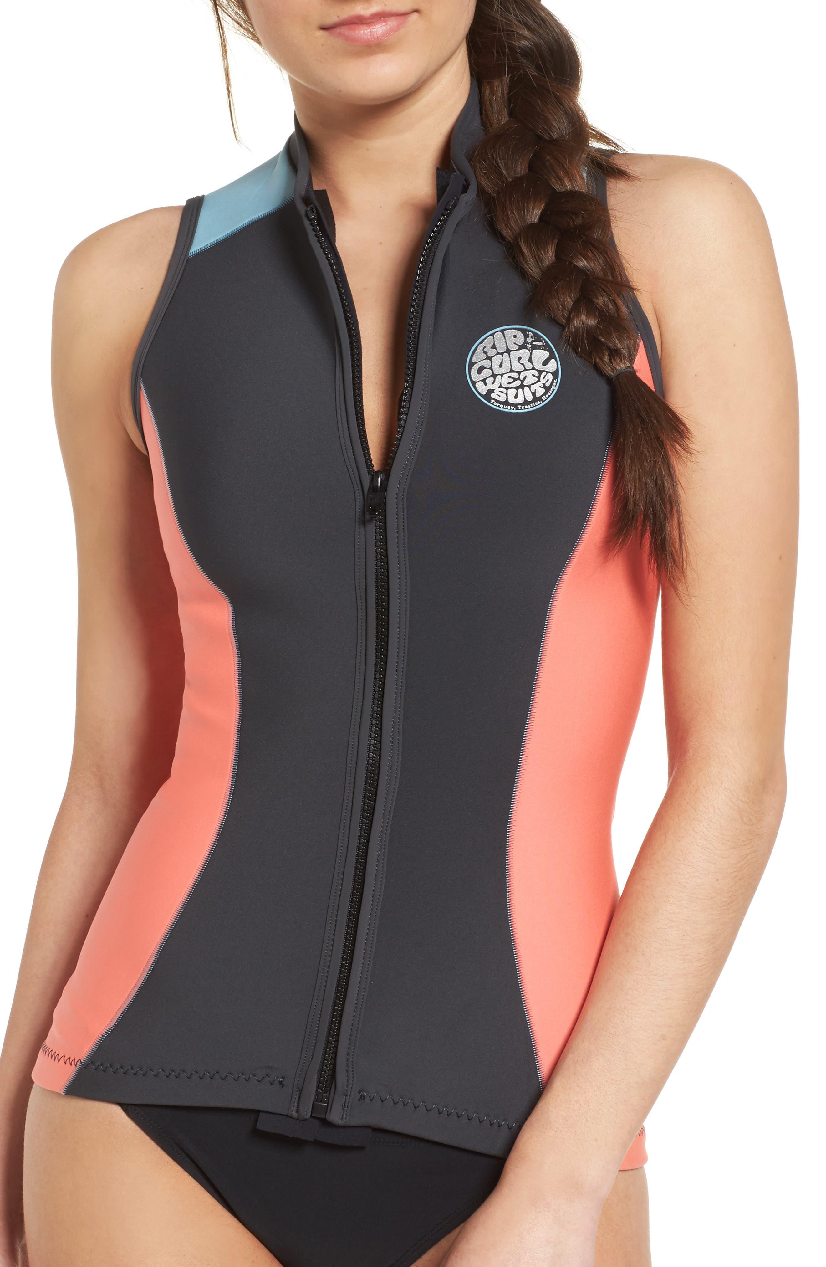 G-Bomb Wetsuit Vest,                         Main,                         color, Coral