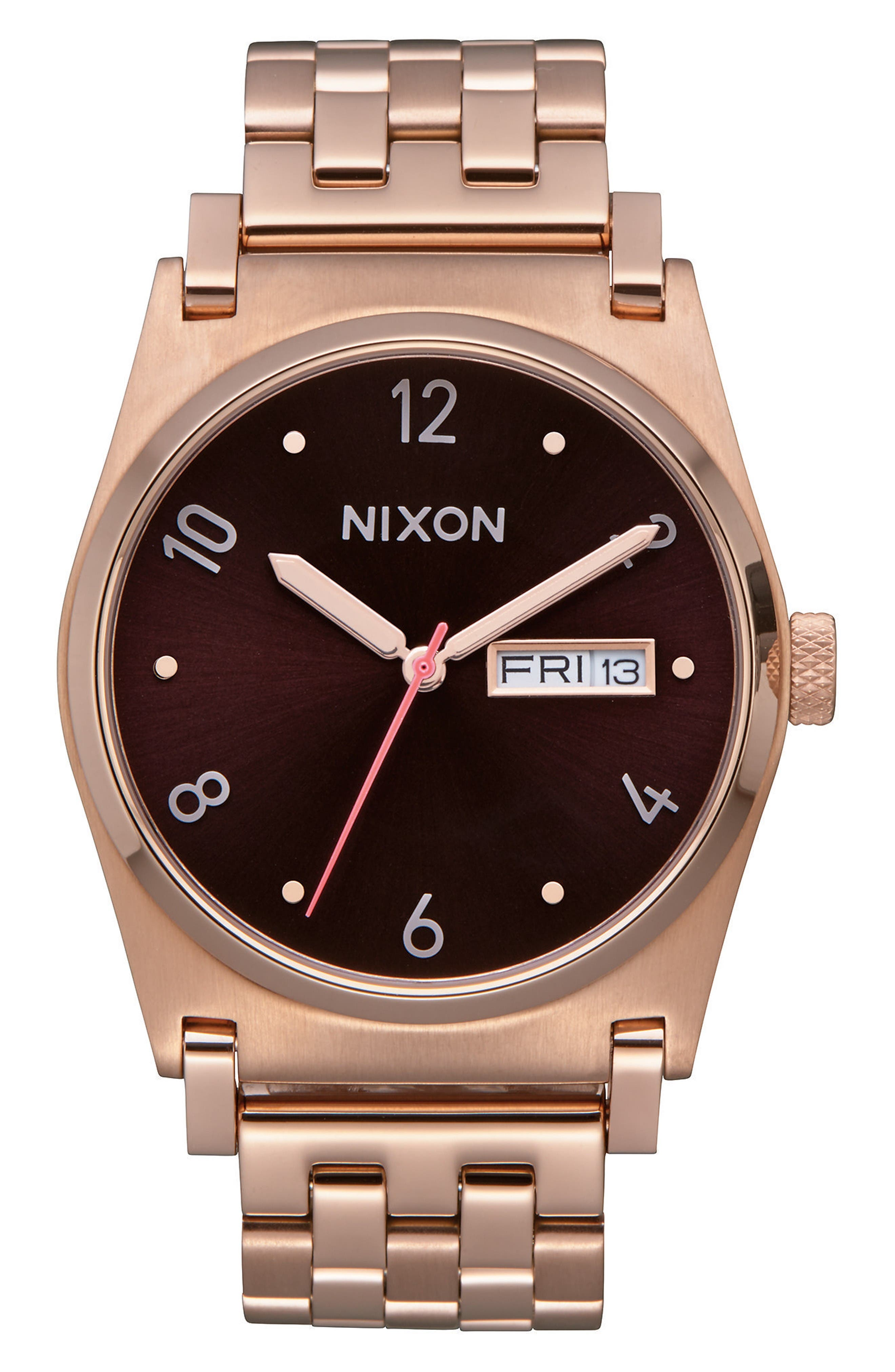 Jane Bracelet Watch, 36mm,                             Main thumbnail 1, color,                             Rose Gold/ Brown