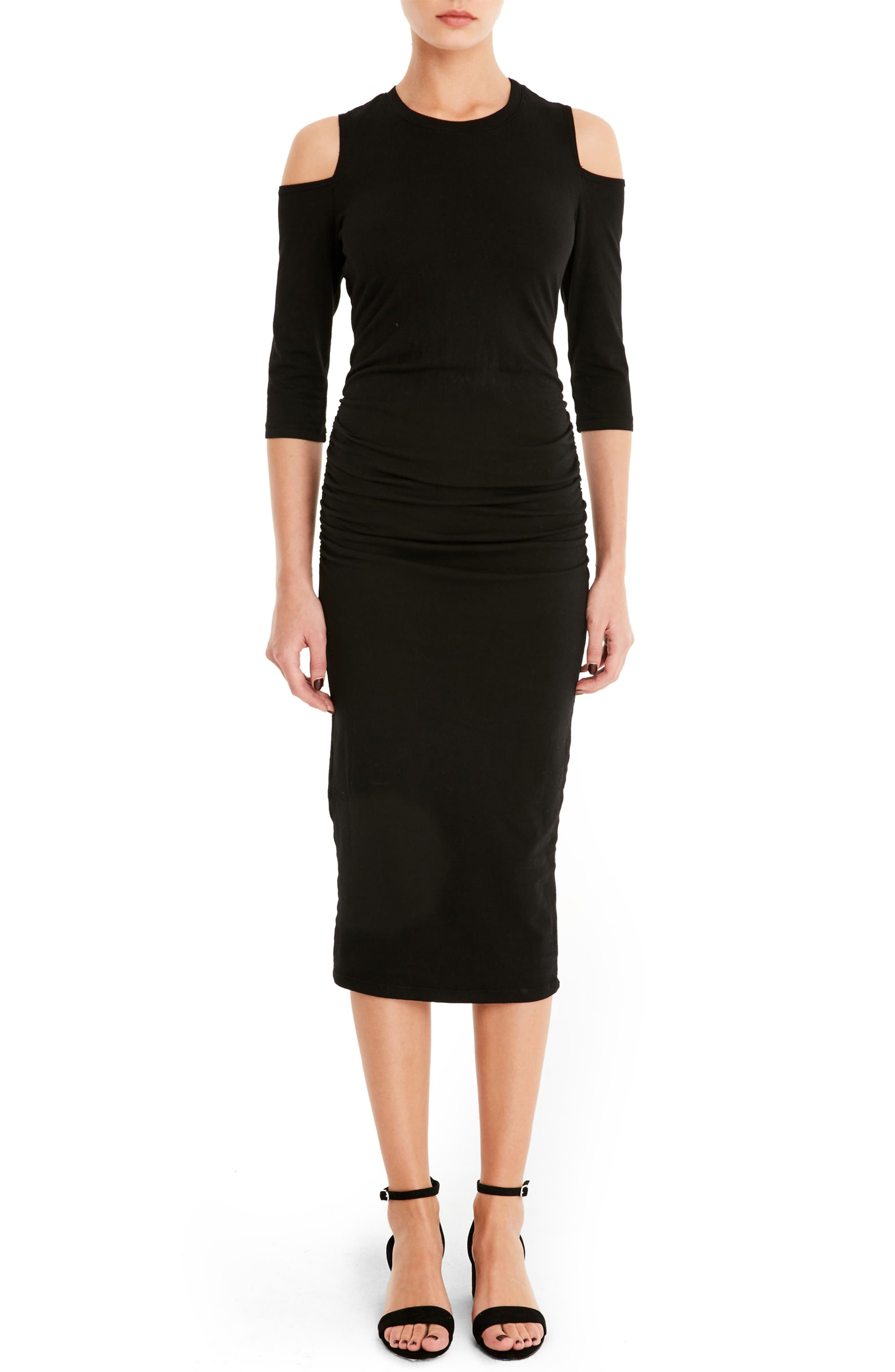 Main Image - Michael Stars Cold Shoulder Midi Dress