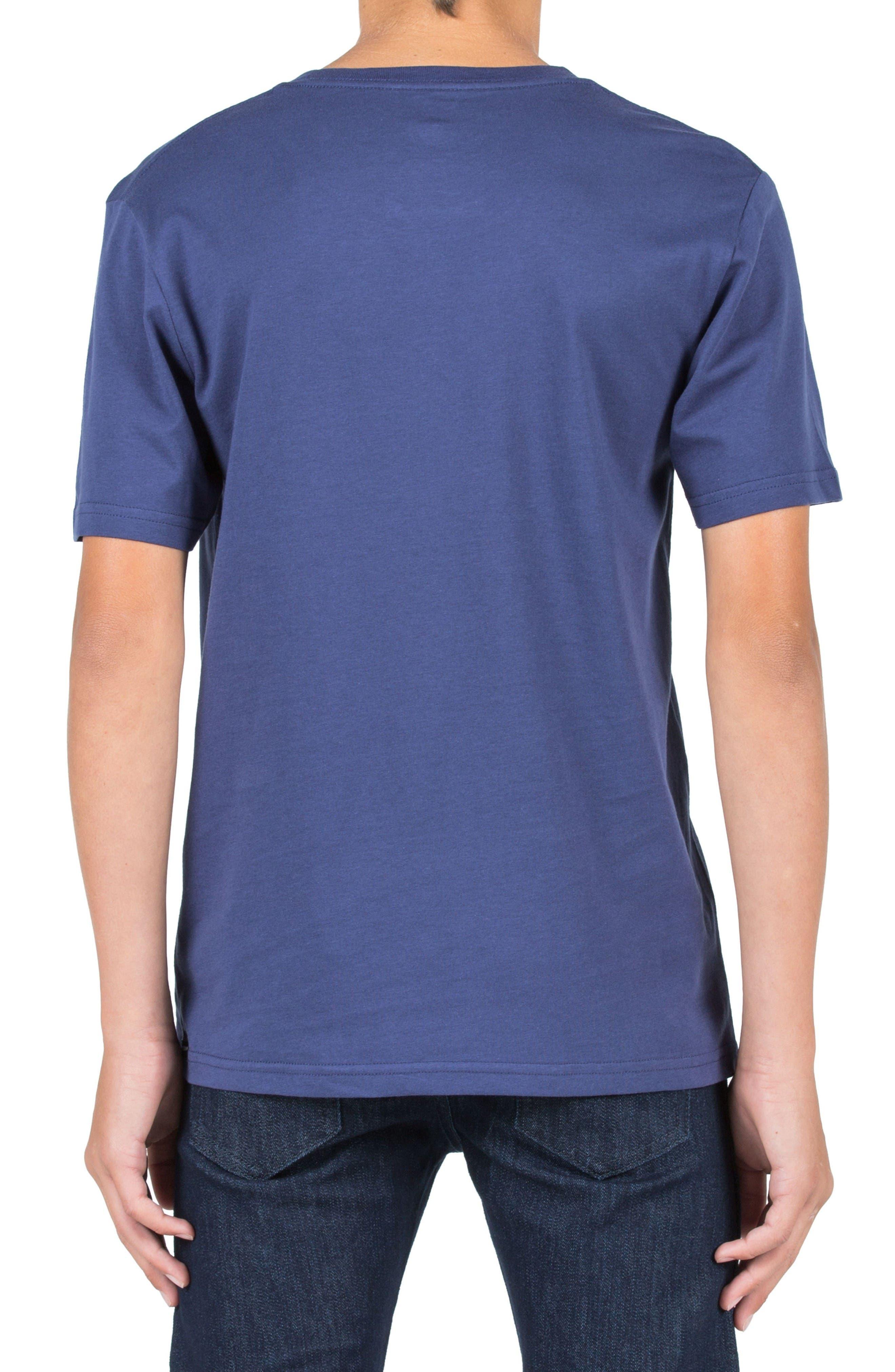 T Mark Graphic T-Shirt,                             Alternate thumbnail 2, color,                             Blue Plum
