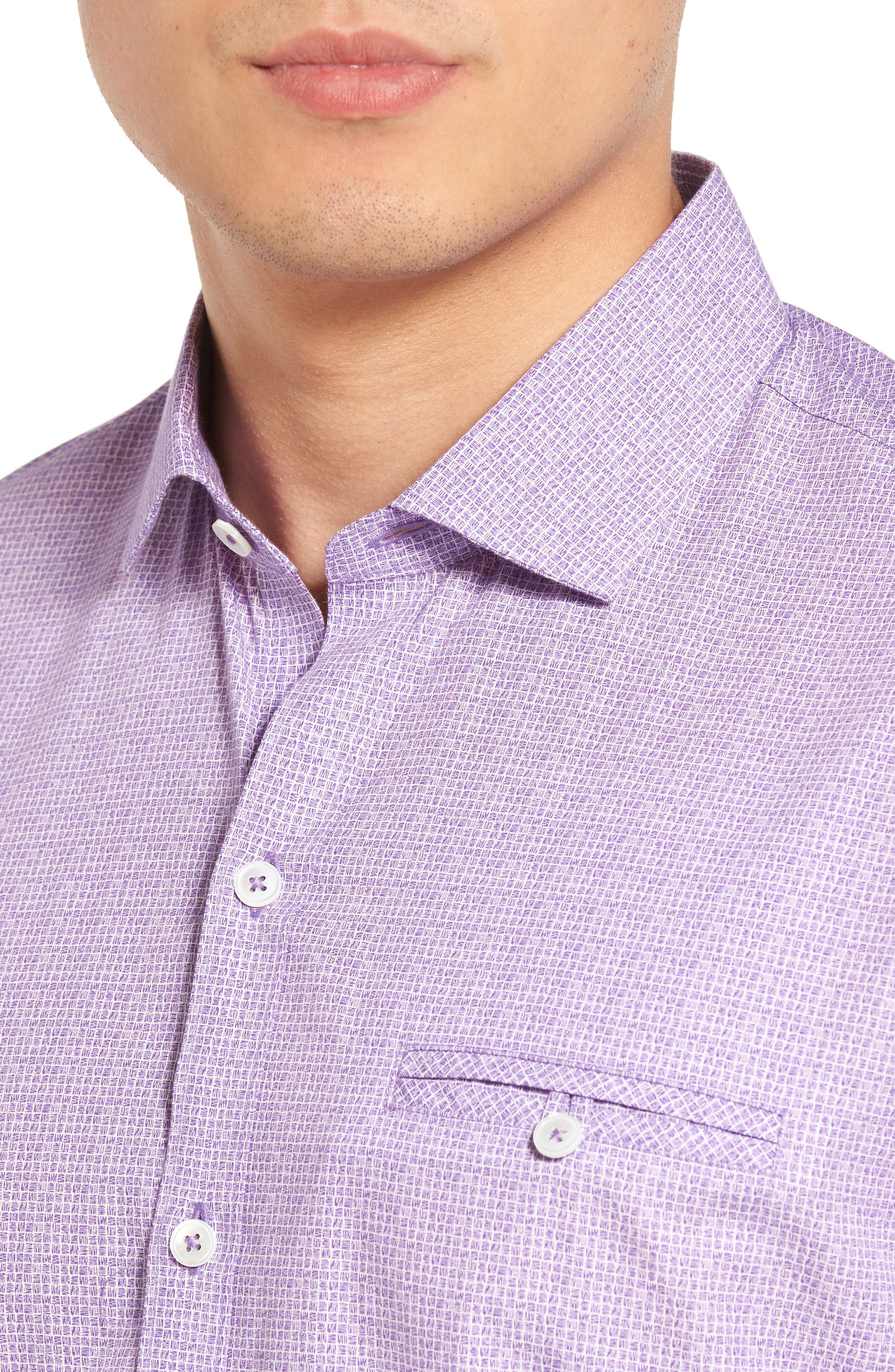 Alternate Image 4  - Zachary Prell McDesmond Trim Fit Print Sport Shirt