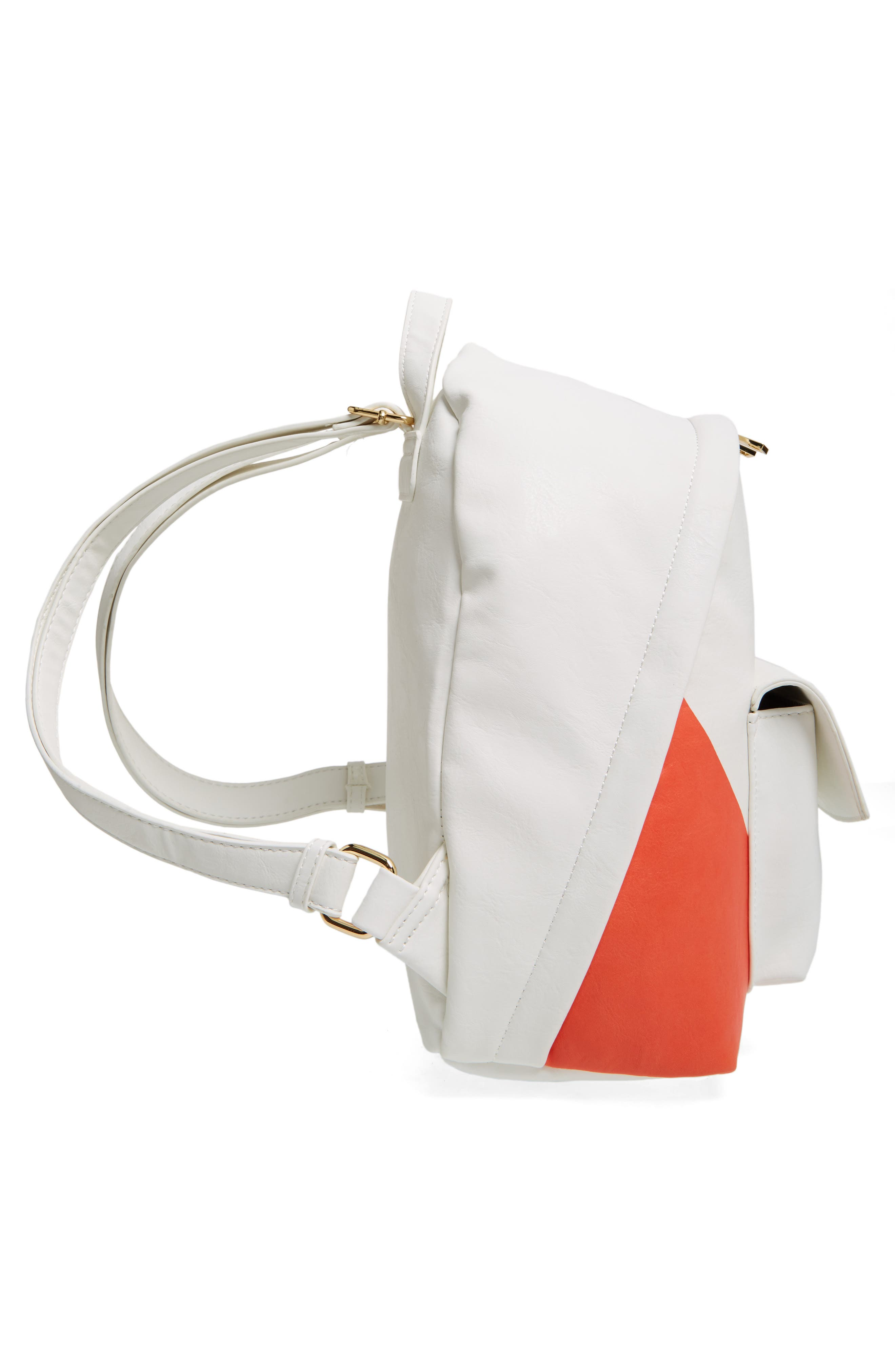 Alternate Image 5  - BP. Graphic Faux Leather Backpack