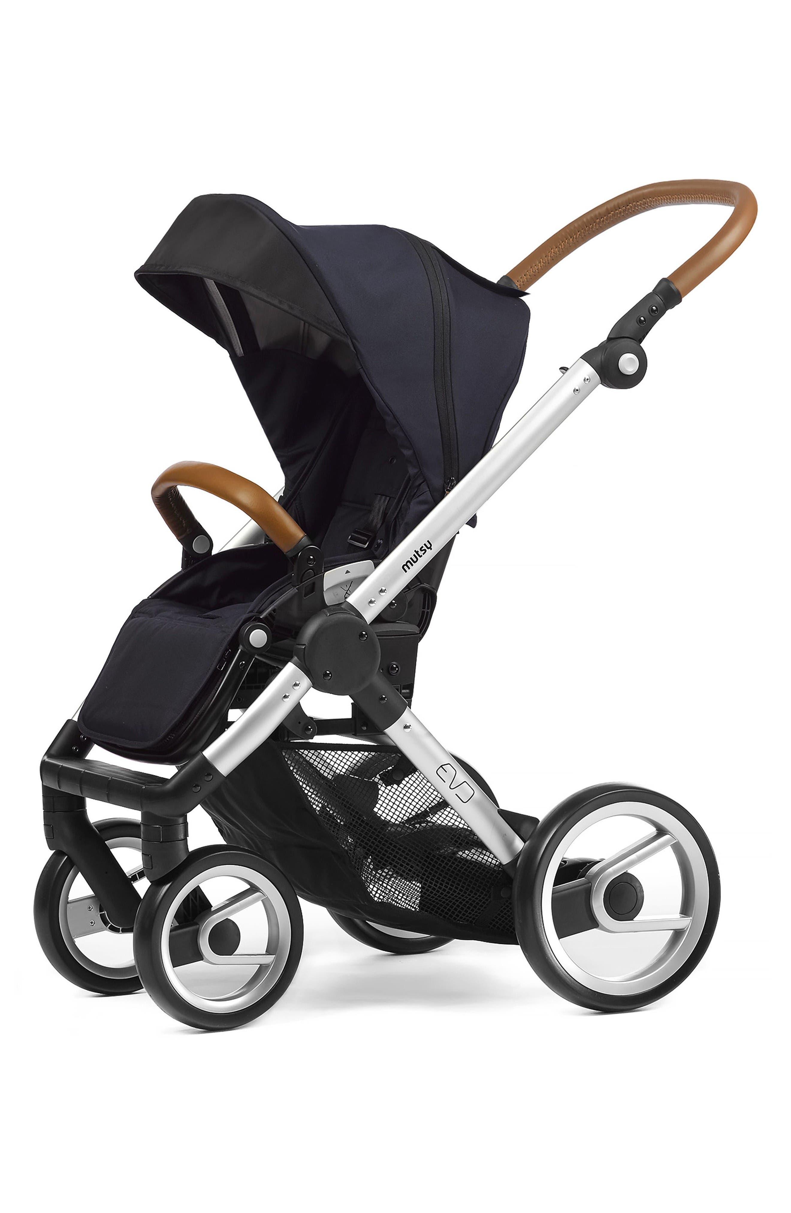 Evo - Urban Nomad Stroller,                             Main thumbnail 1, color,                             Silver/ Blue