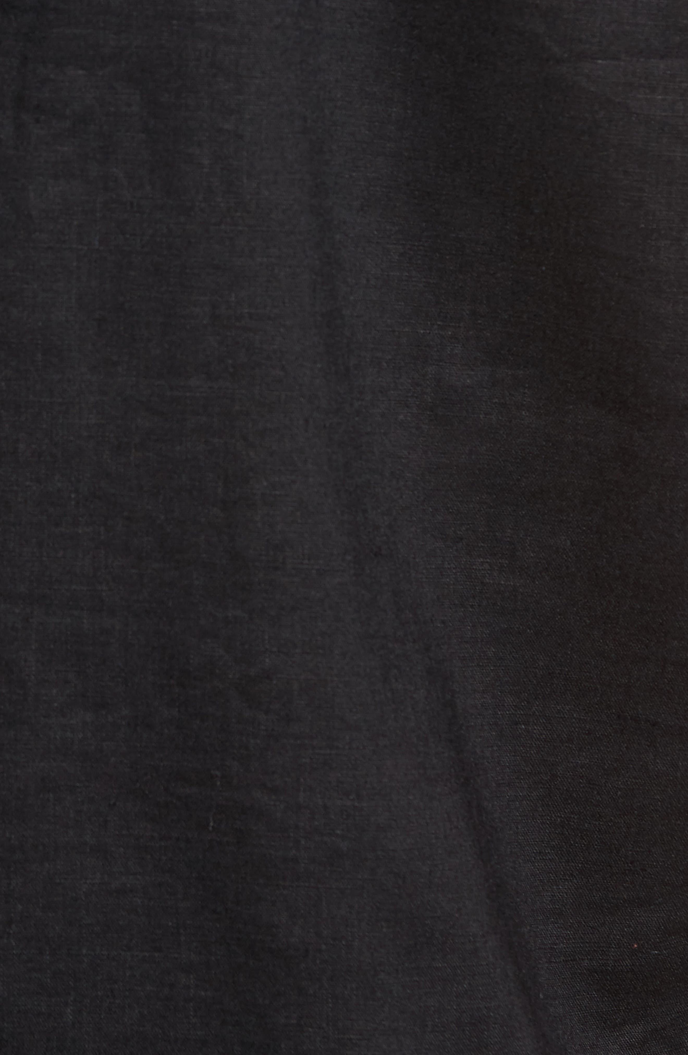 Monaco Tides Linen Blend Camp Shirt,                             Alternate thumbnail 5, color,                             Black