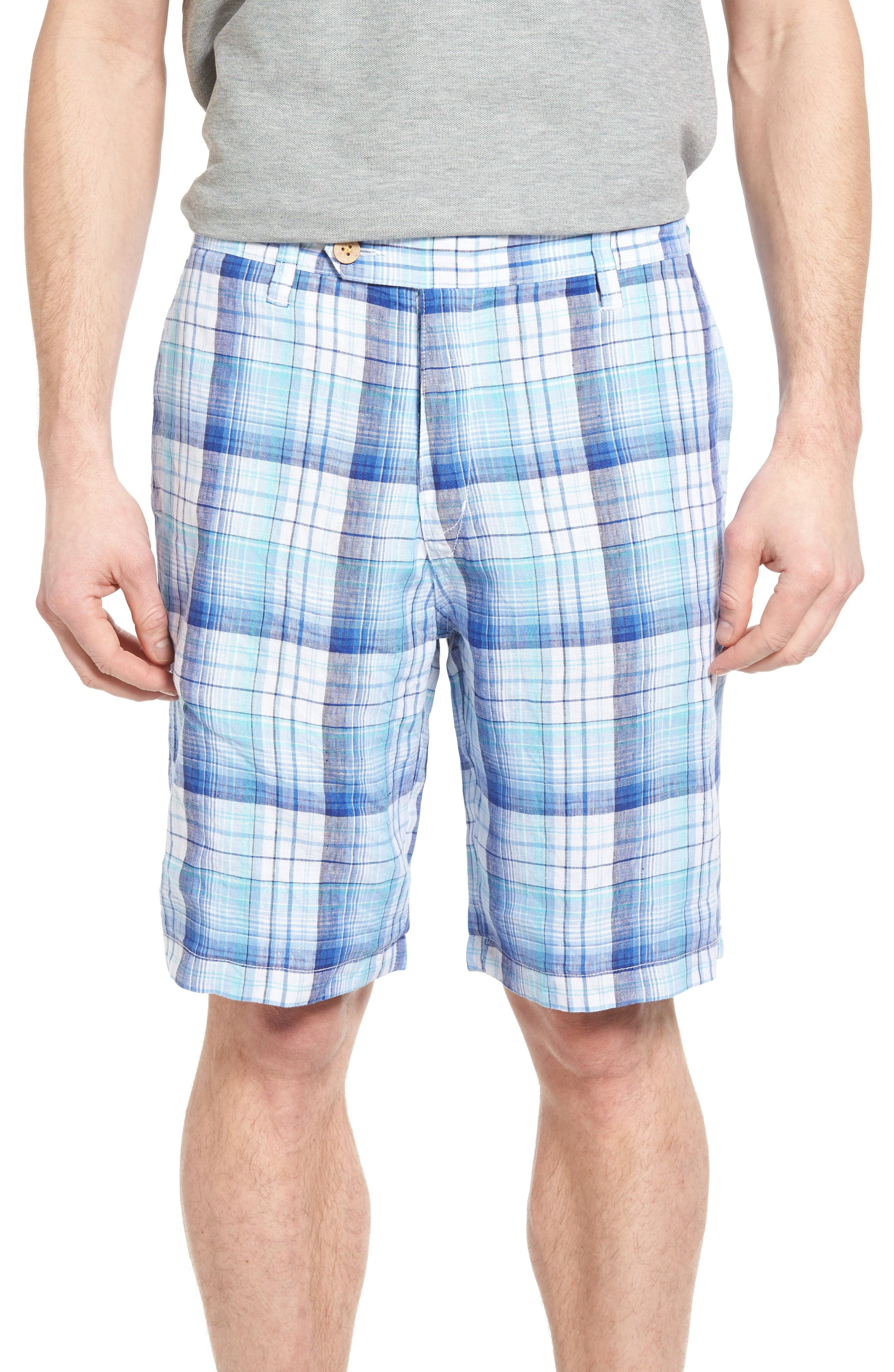 Main Image - Tommy Bahama Island Duo Reversible Linen Shorts