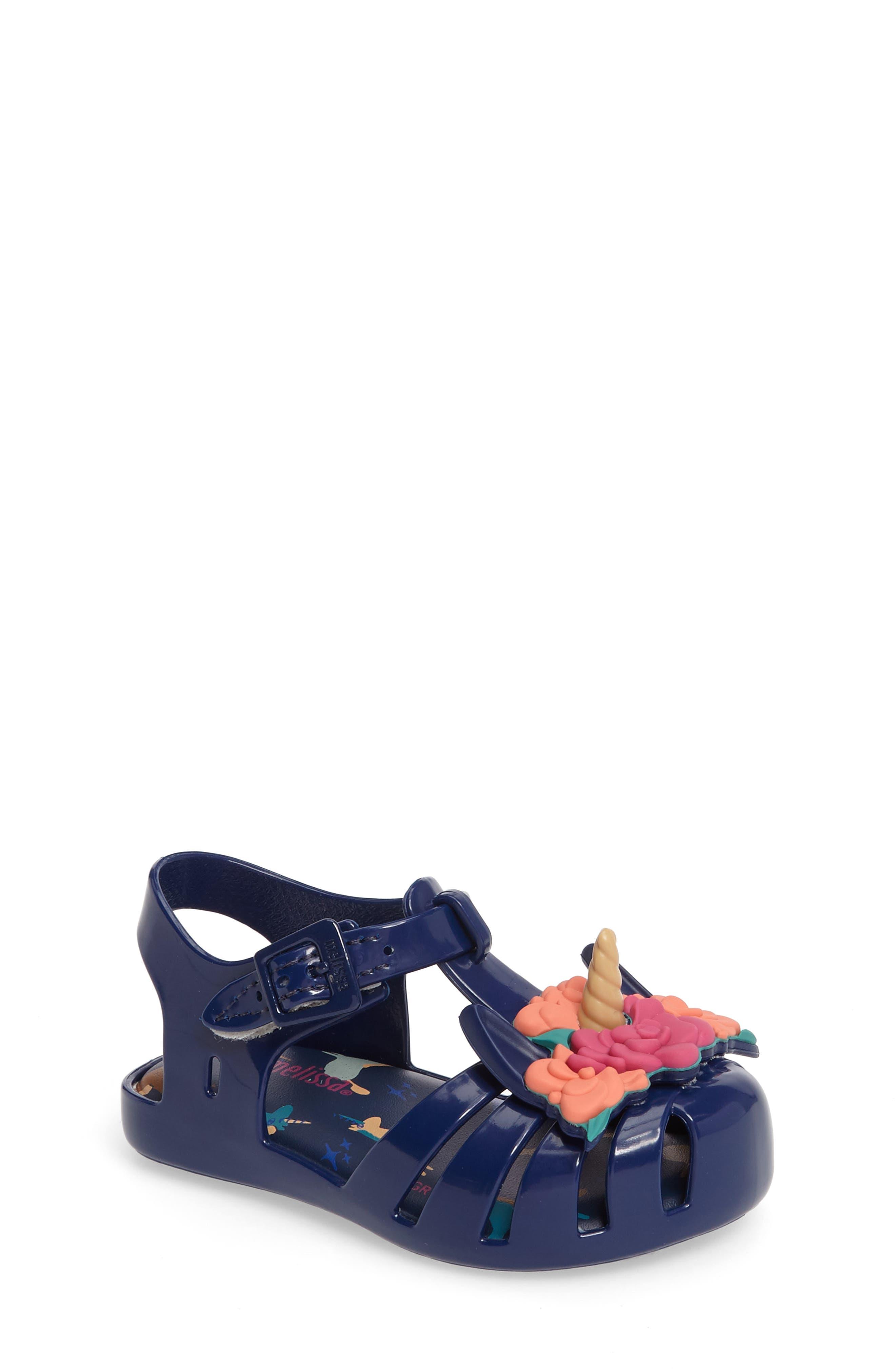 Mini Melissa Aranha Fabula Unicorn Sandal (Walker & Toddler)