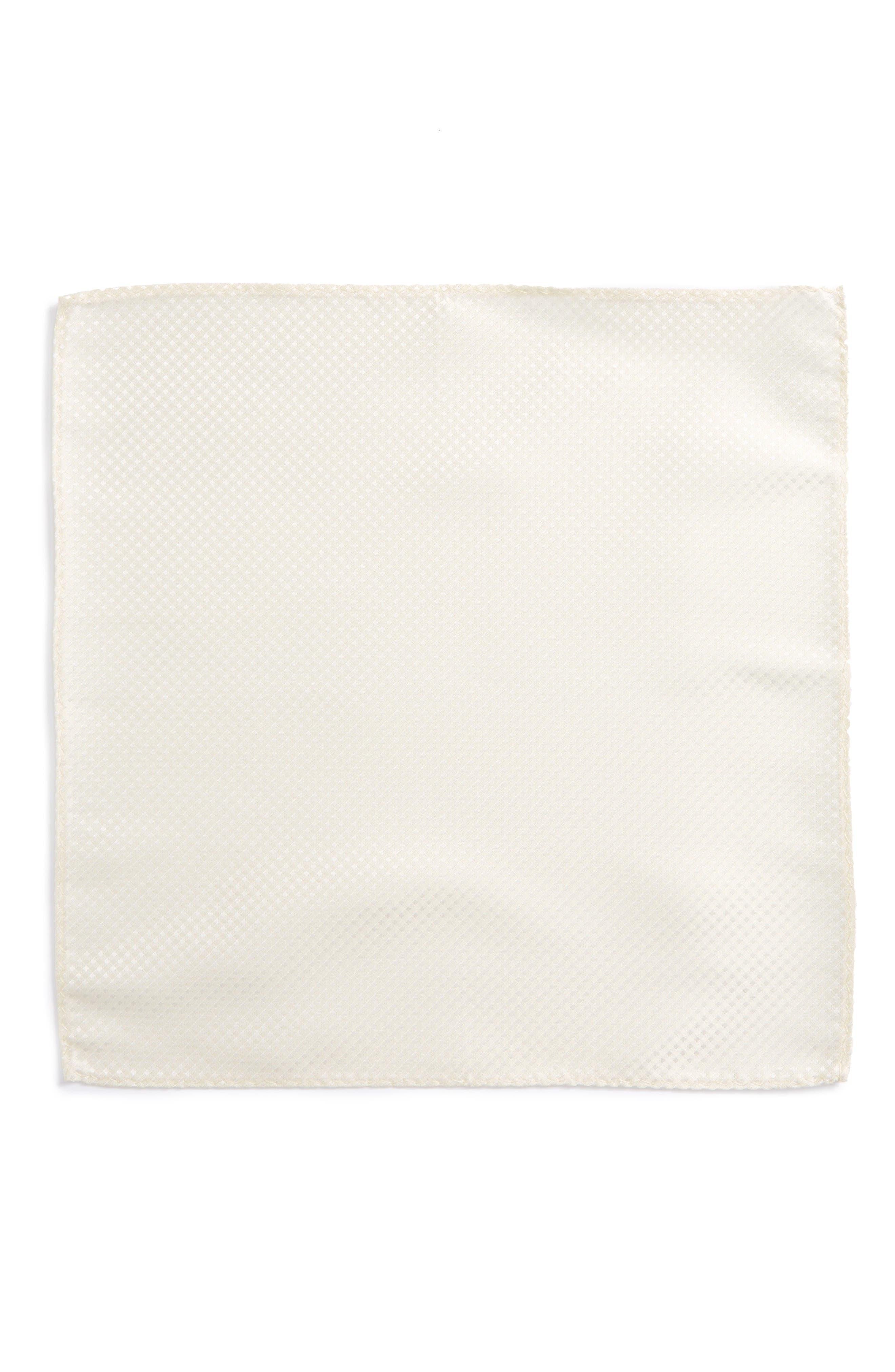 Alternate Image 2  - The Tie Bar Check Silk Pocket Square