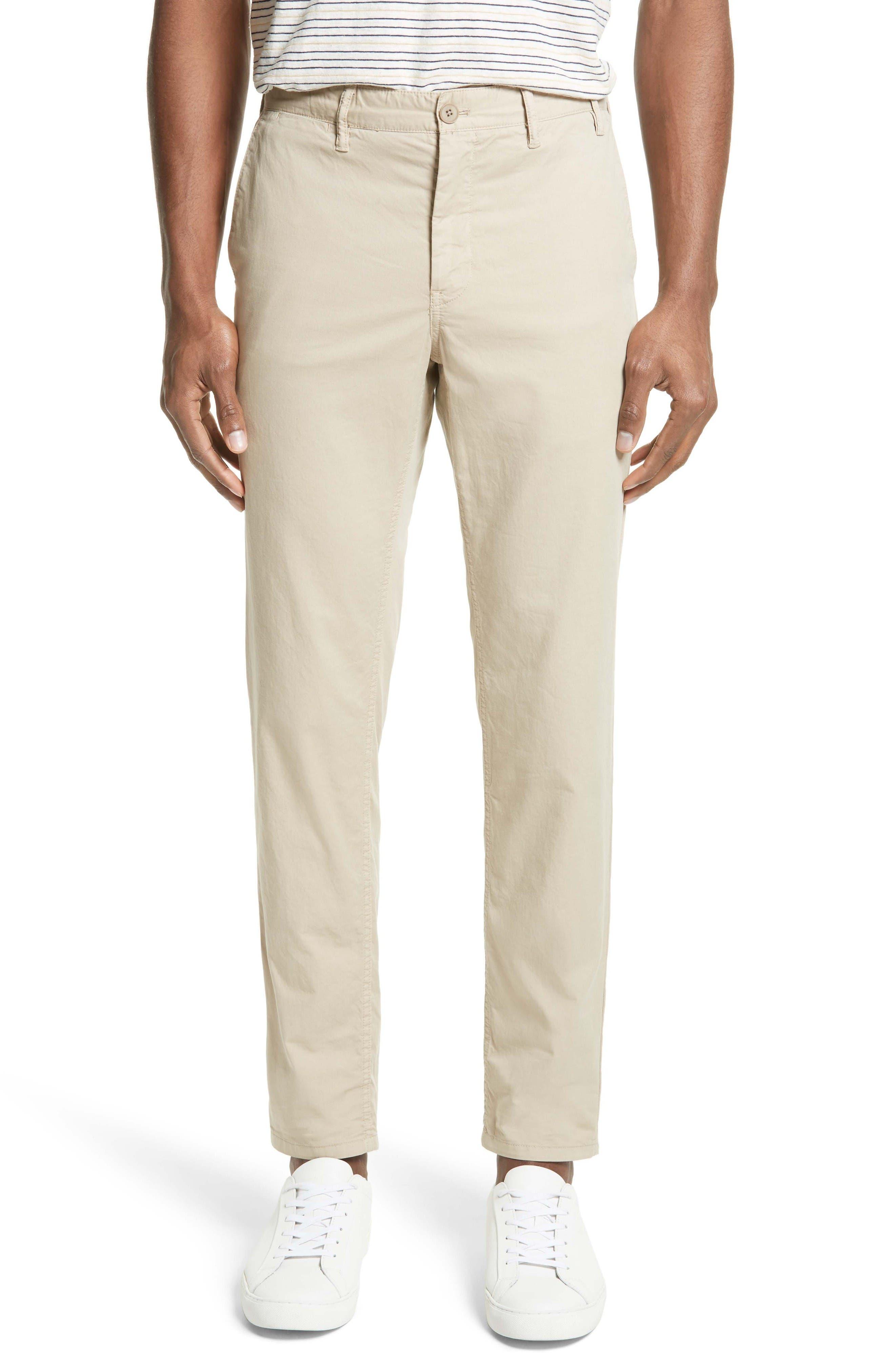 Slim Fit Cotton Twill Chinos,                         Main,                         color, Khaki