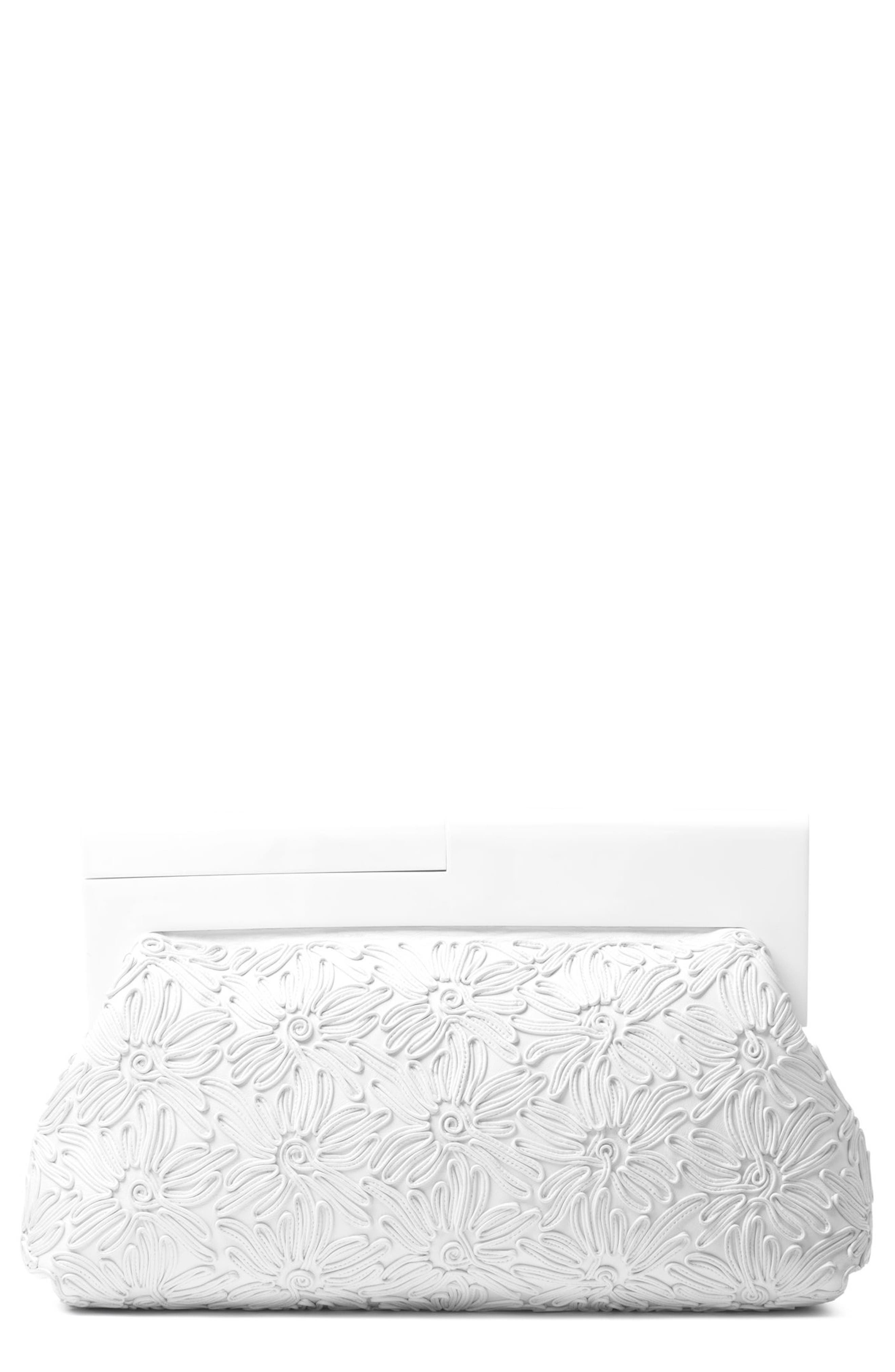 Alternate Image 1 Selected - Michael Kors Stanwyck Calfskin Leather Frame Clutch