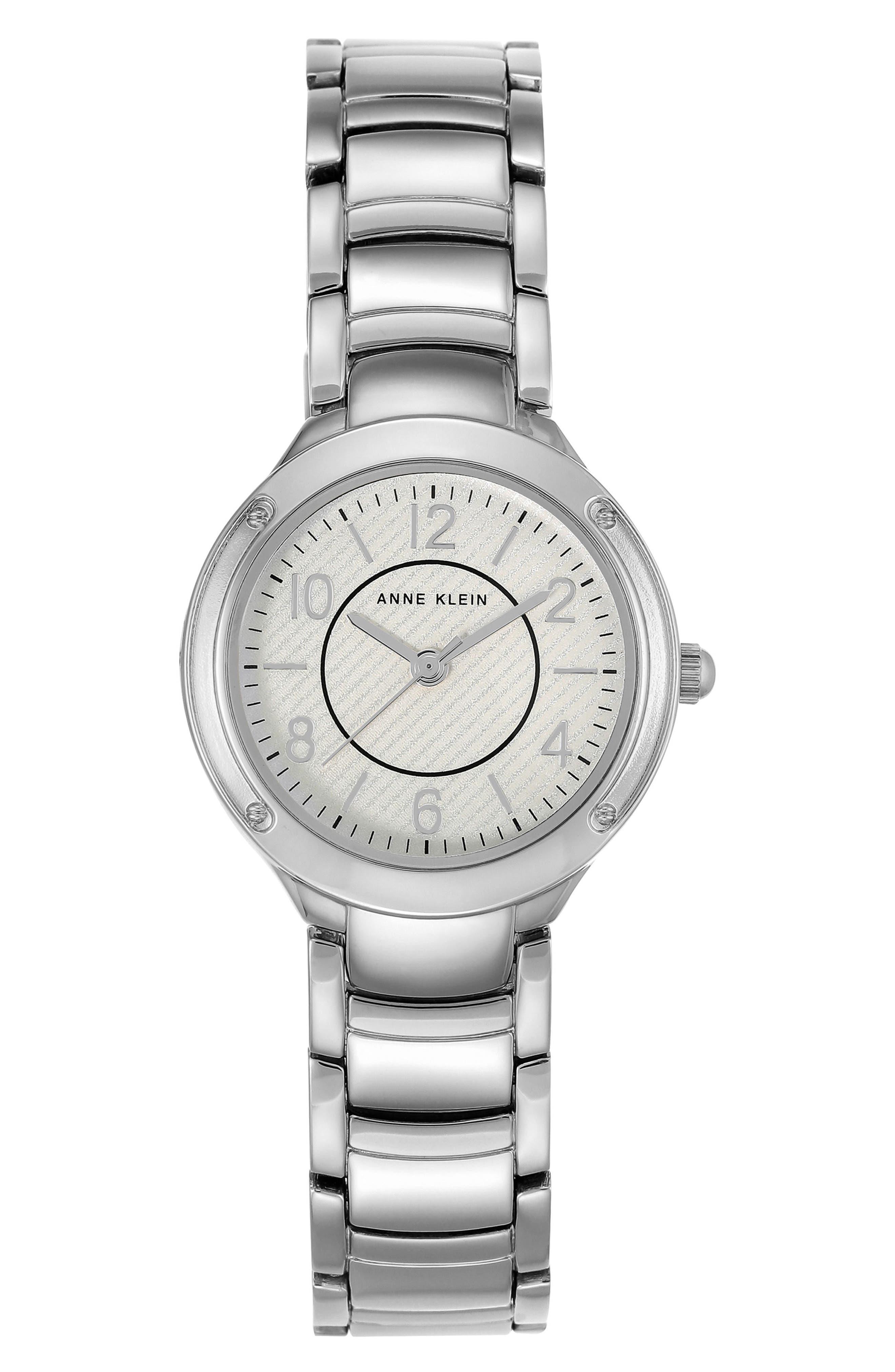 Bracelet Watch, 28mm,                             Main thumbnail 1, color,                             Silver