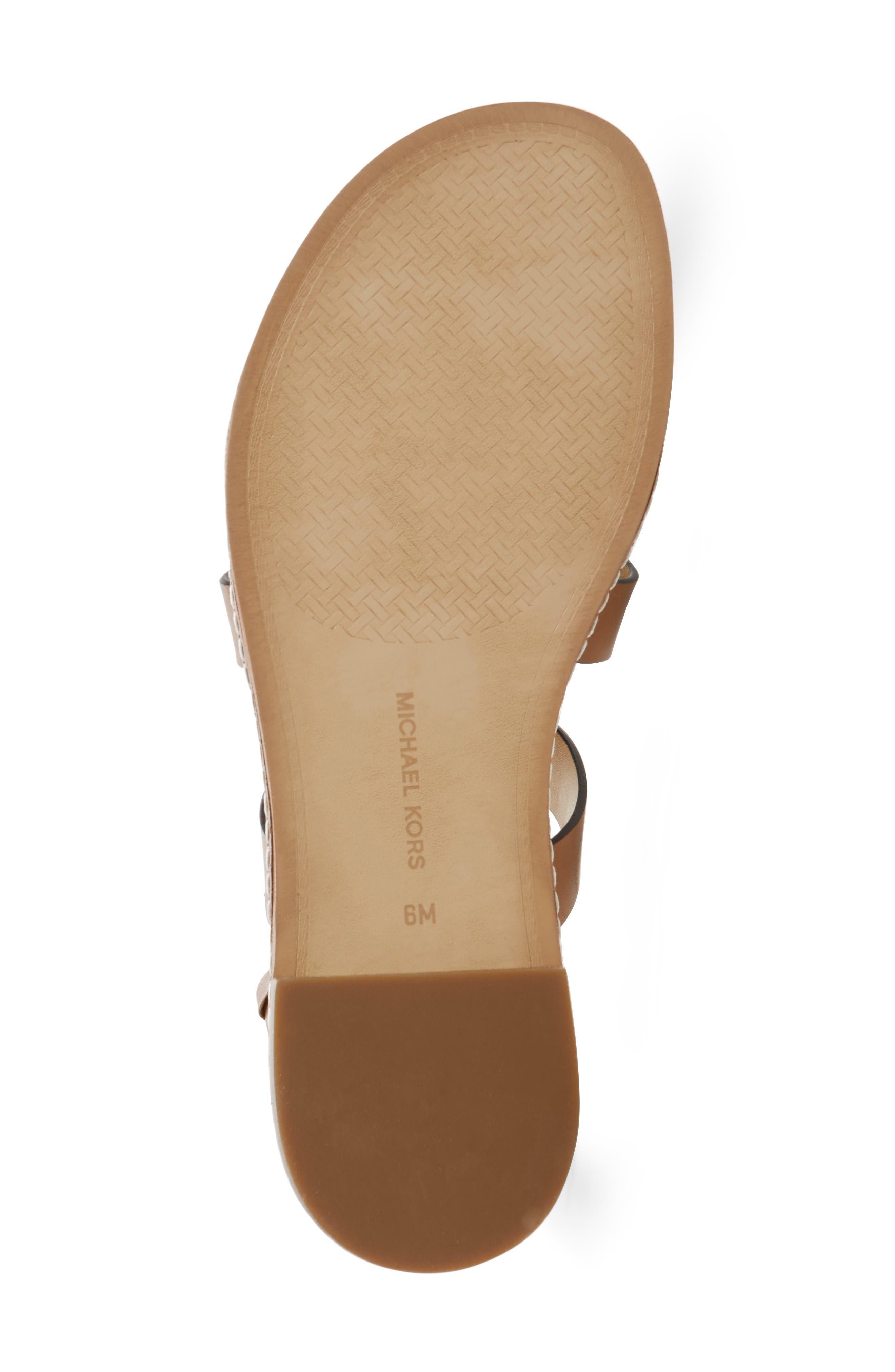 Fallon Gladiator Sandal,                             Alternate thumbnail 6, color,                             Acorn/ White Leather
