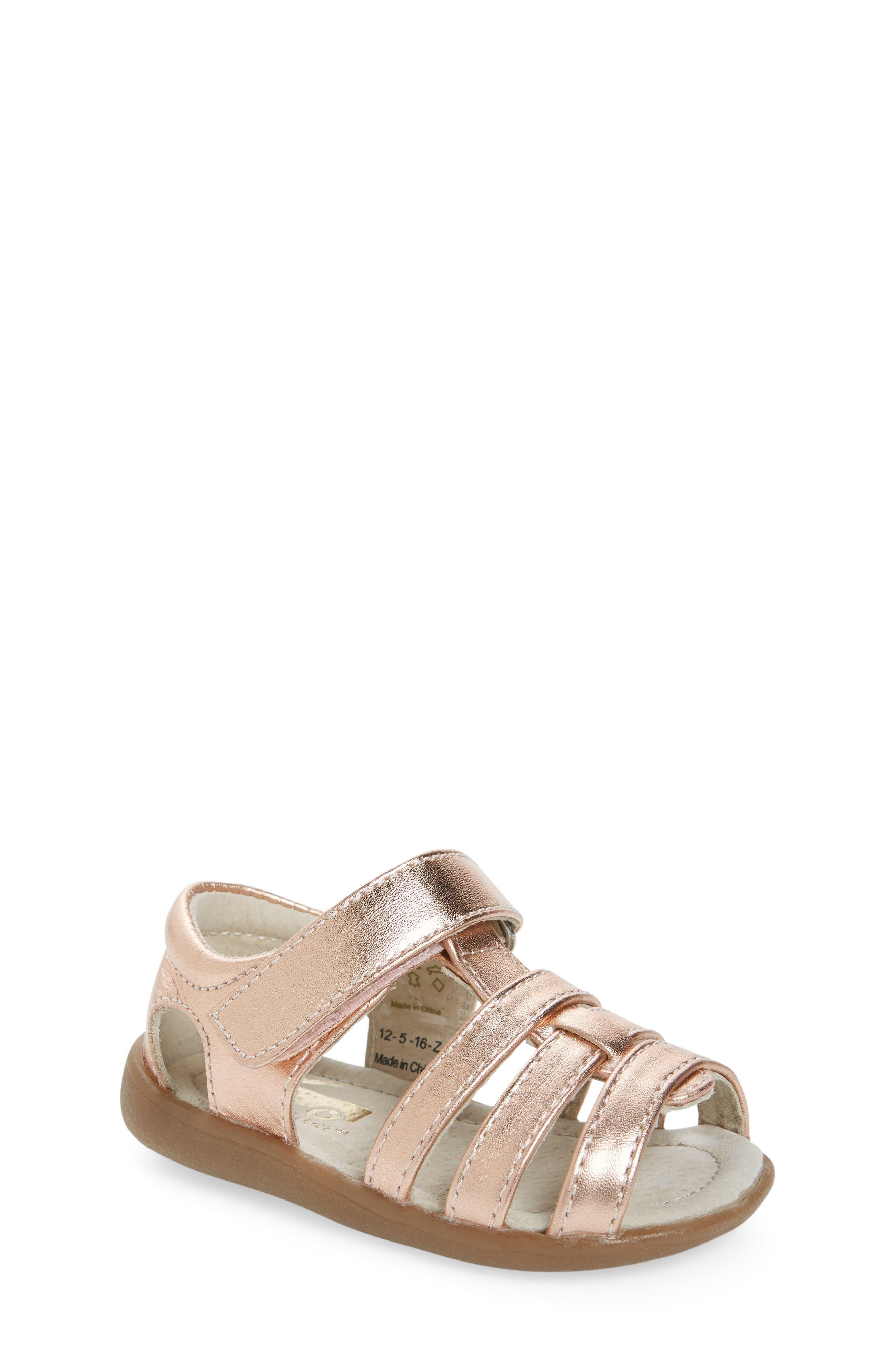 SEE KAI RUN Fe Metallic Leather Gladiator Sandal