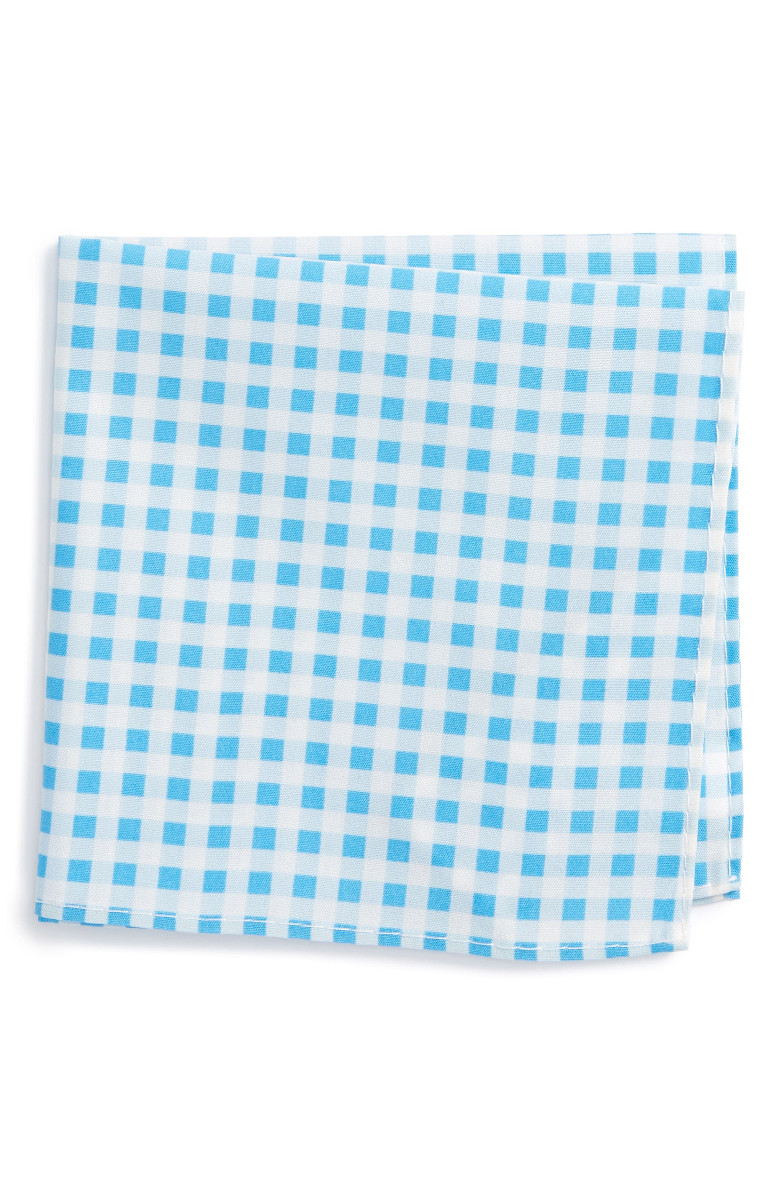 NORDSTROM Check Cotton Pocket Square